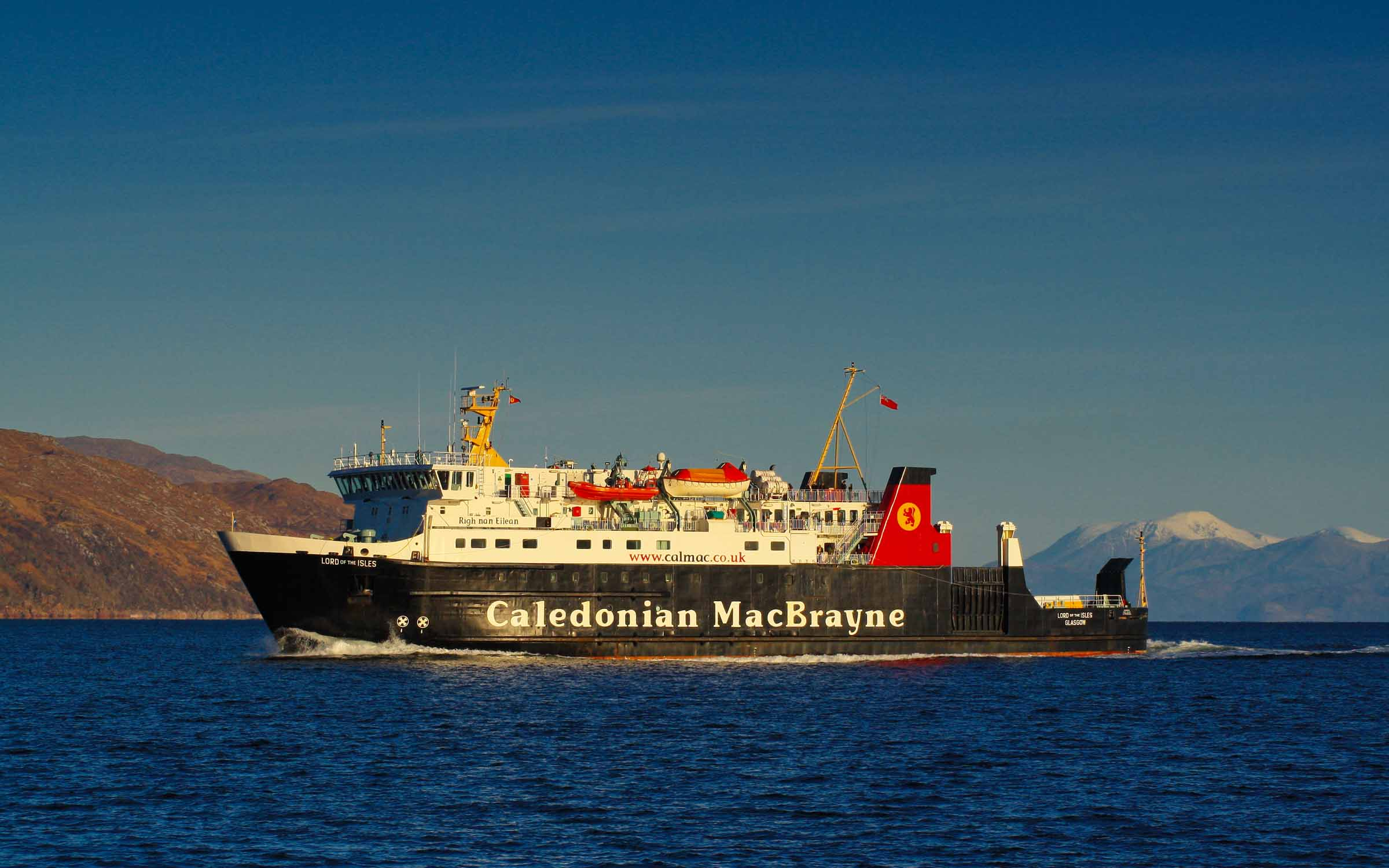 Lord of the Isles approaching Craignure Bay (Ships of CalMac)