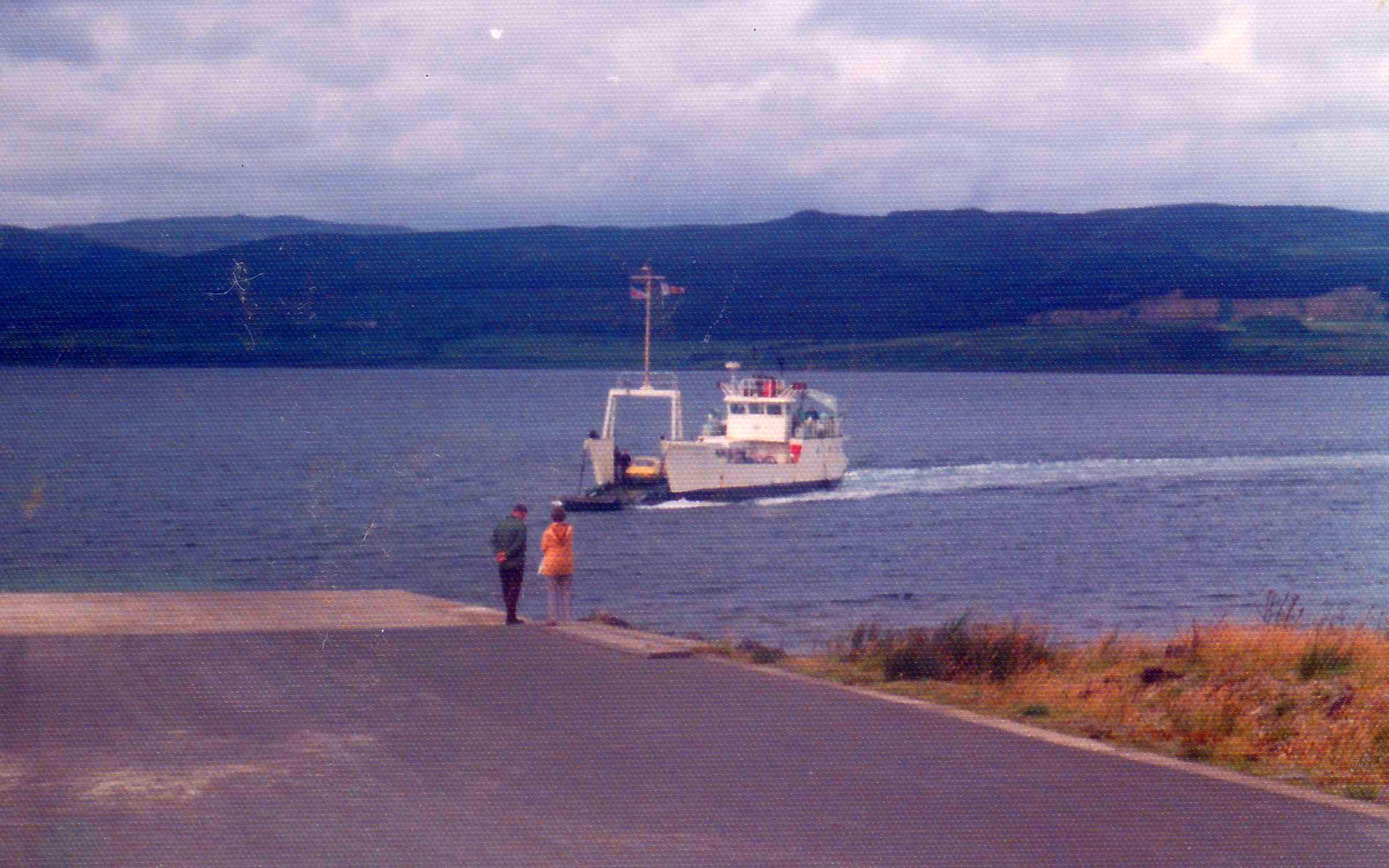 Coll arriving at Fishnish (Ships of CalMac)