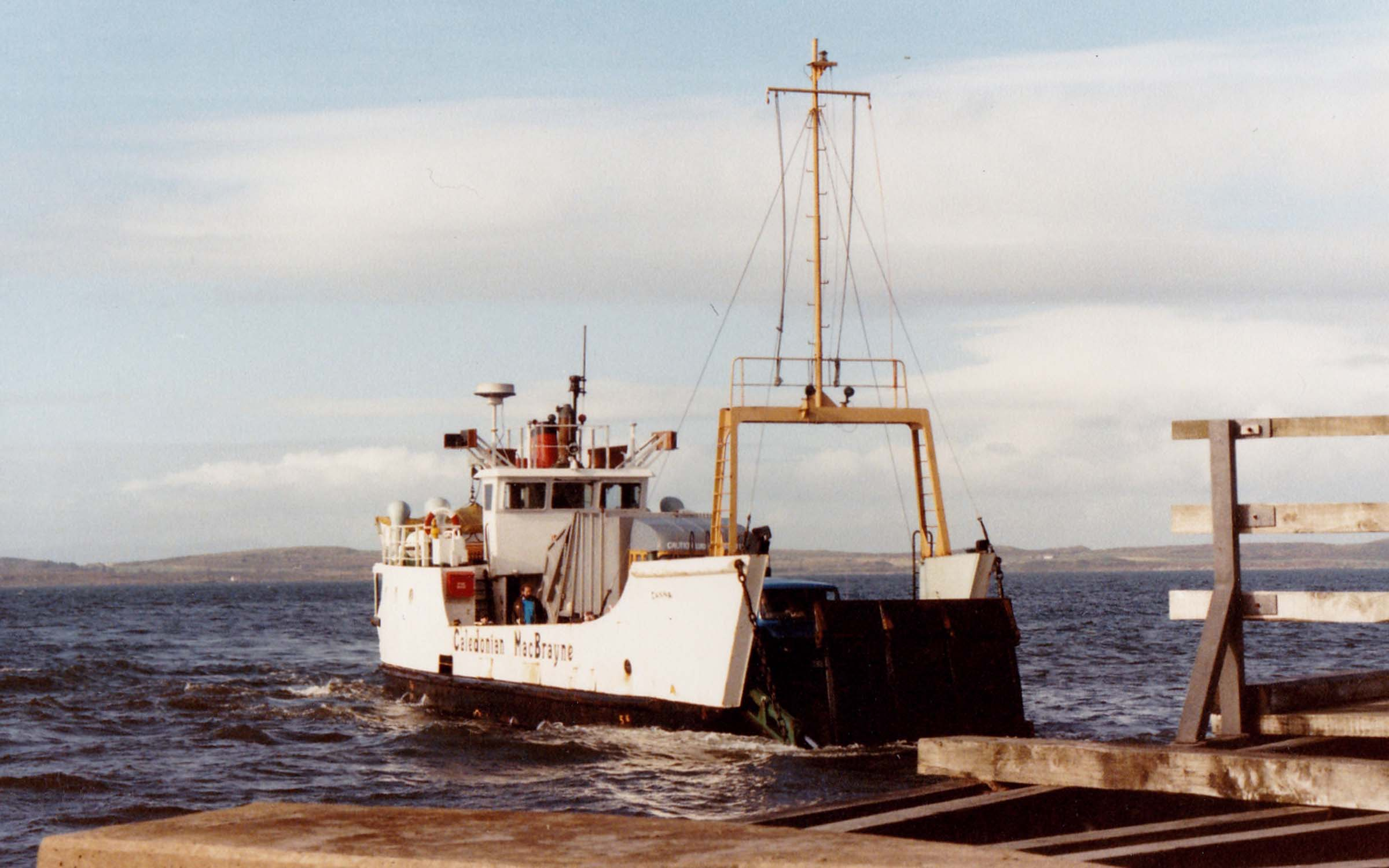 Canna arriving at Tayinloan (Jim Aikman Smith)