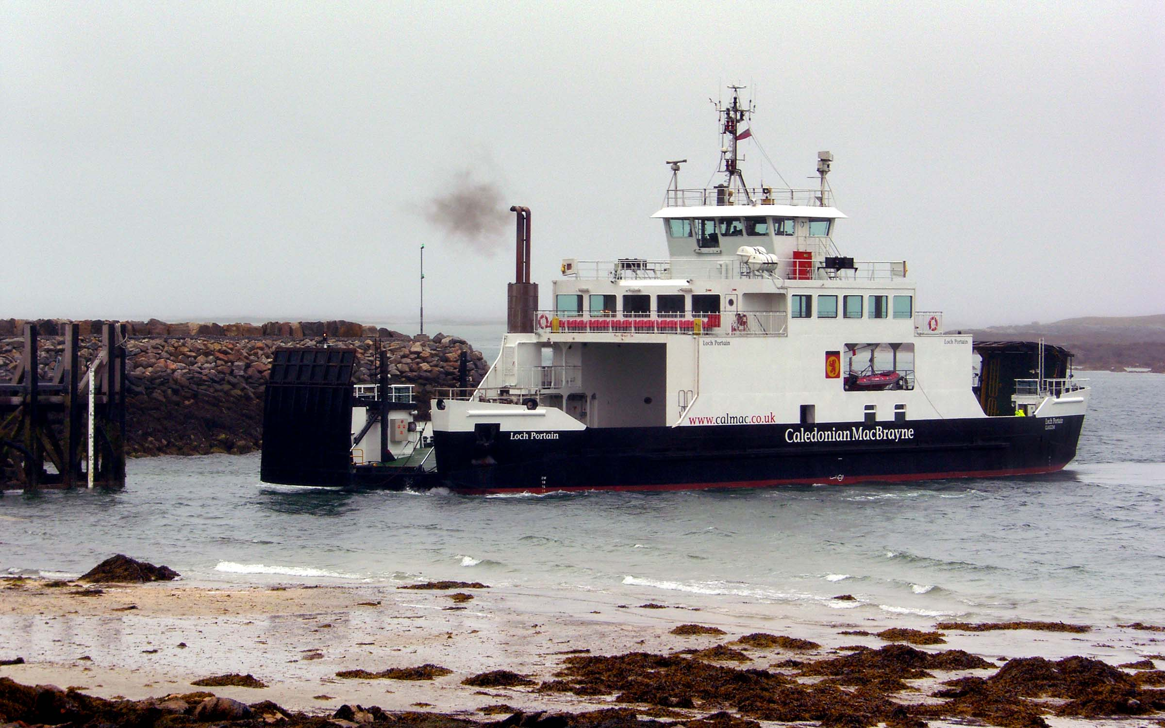 Loch Portain arriving at Berneray (Ships of CalMac)