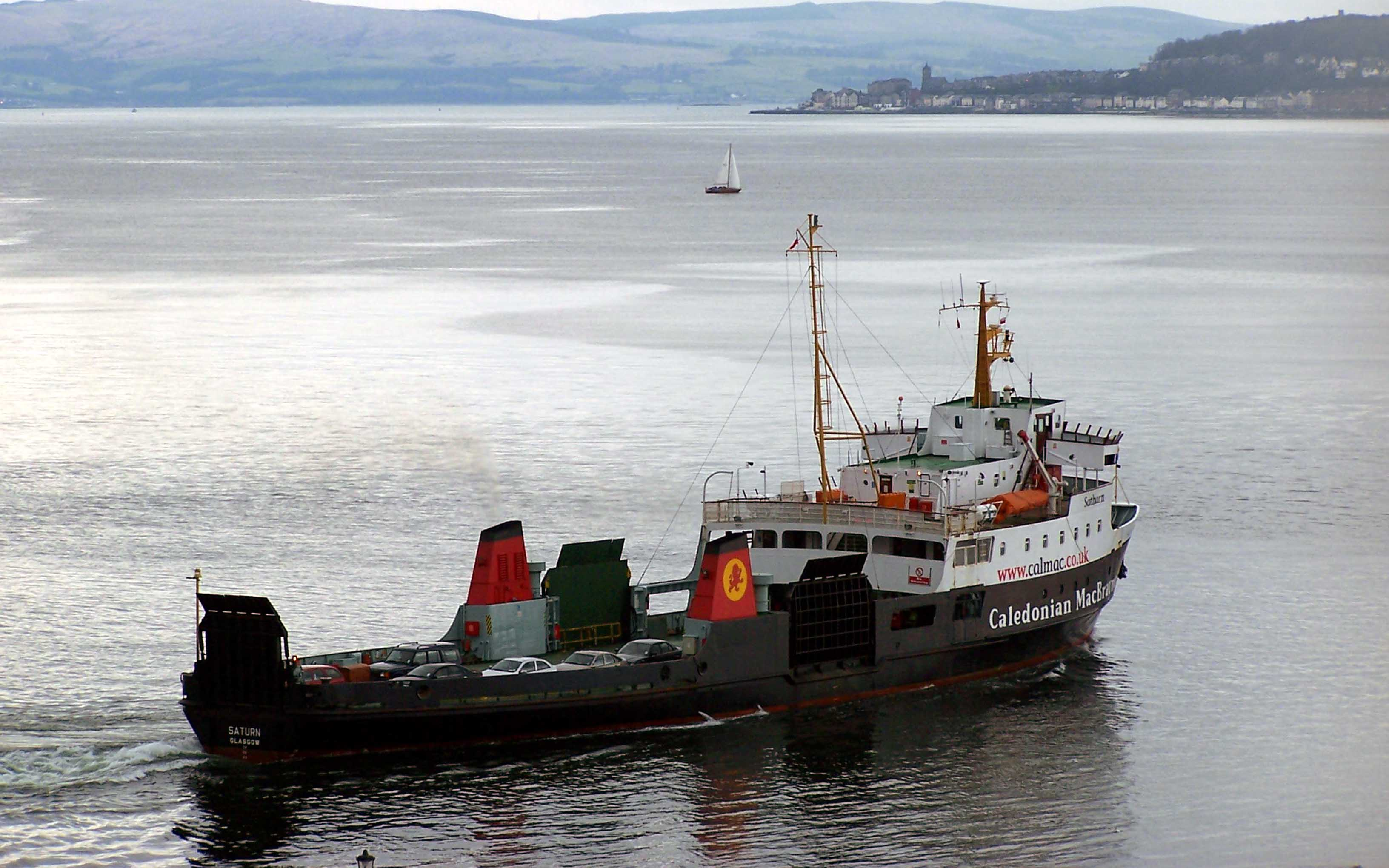 Saturn in the last days of the vehicle ferry (Ships of CalMac)