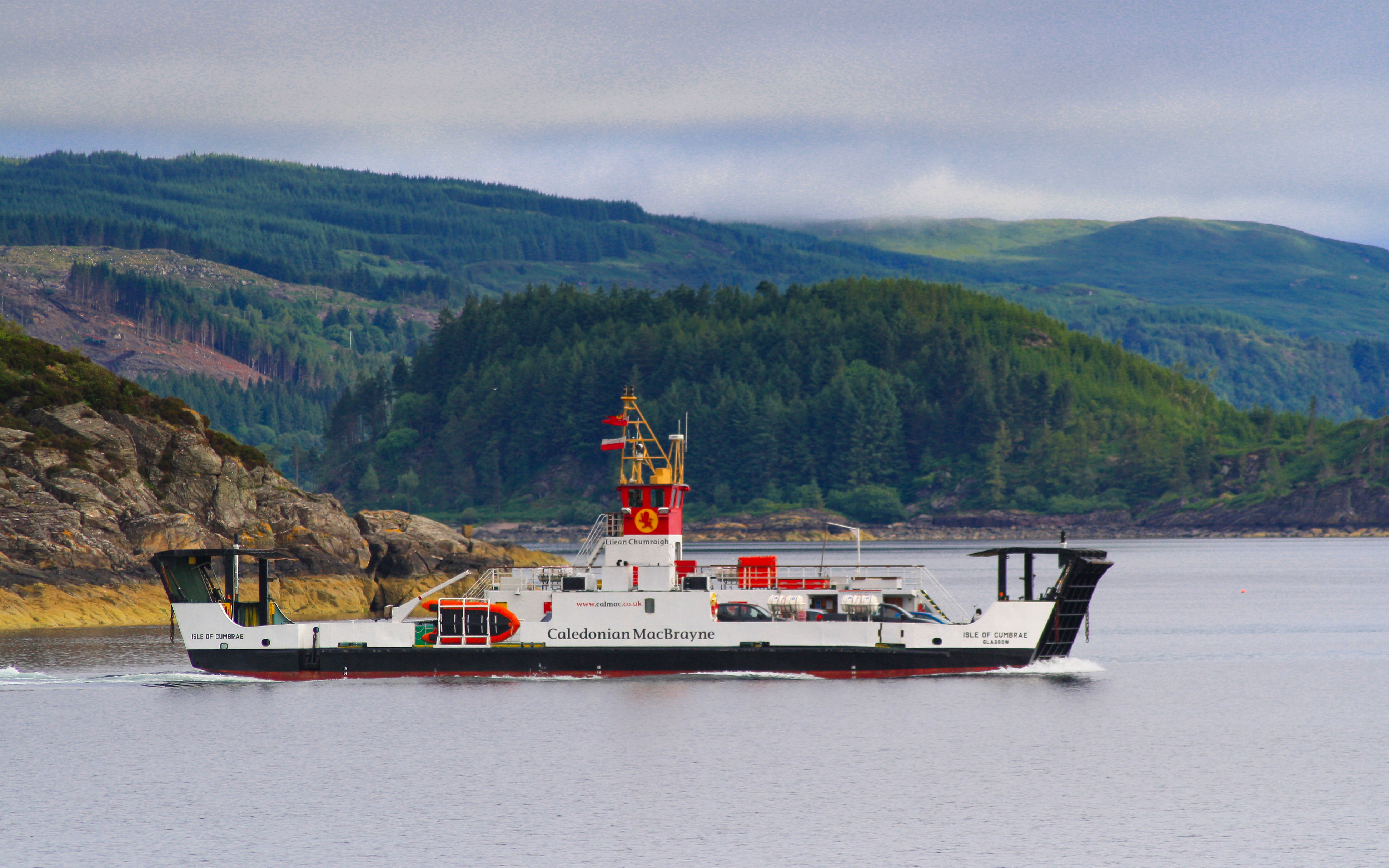 Isle of Cumbrae setting out from Tarbert (Ships of CalMac)