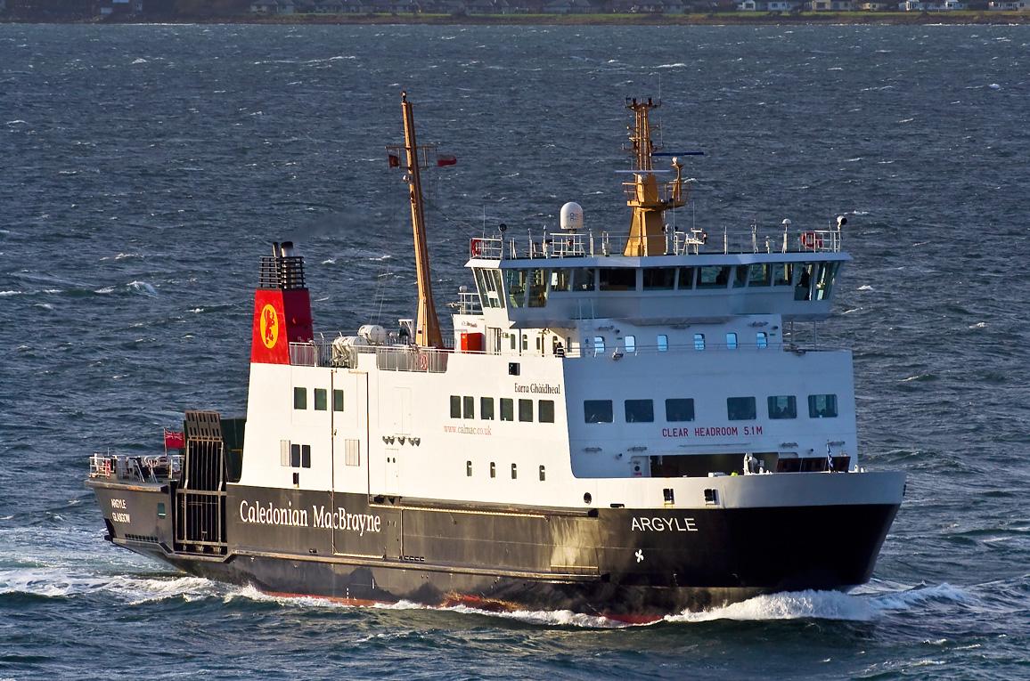 Argyle approaching Wemyss Bay (Ships of CalMac)