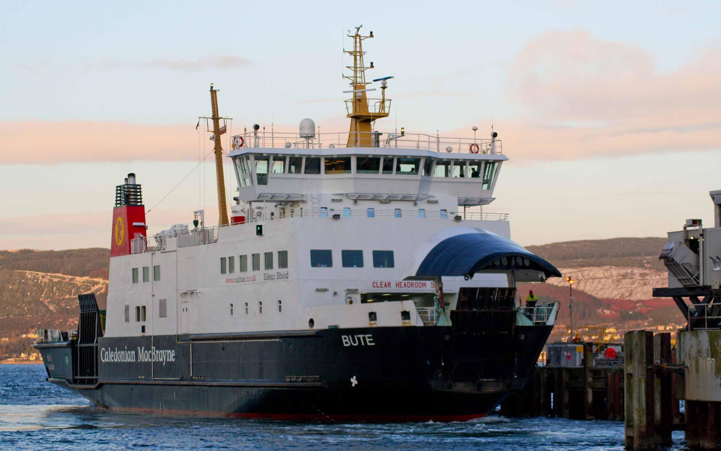 Bute arriving at Wemyss Bay (Ships of CalMac)