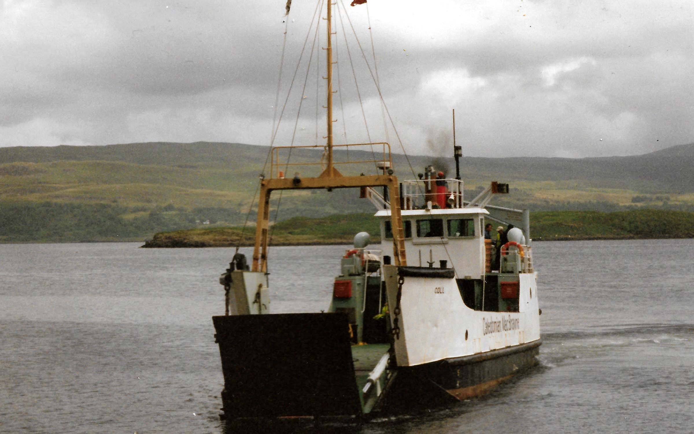 Coll coming onto Tobermory slipway (Ships of CalMac)