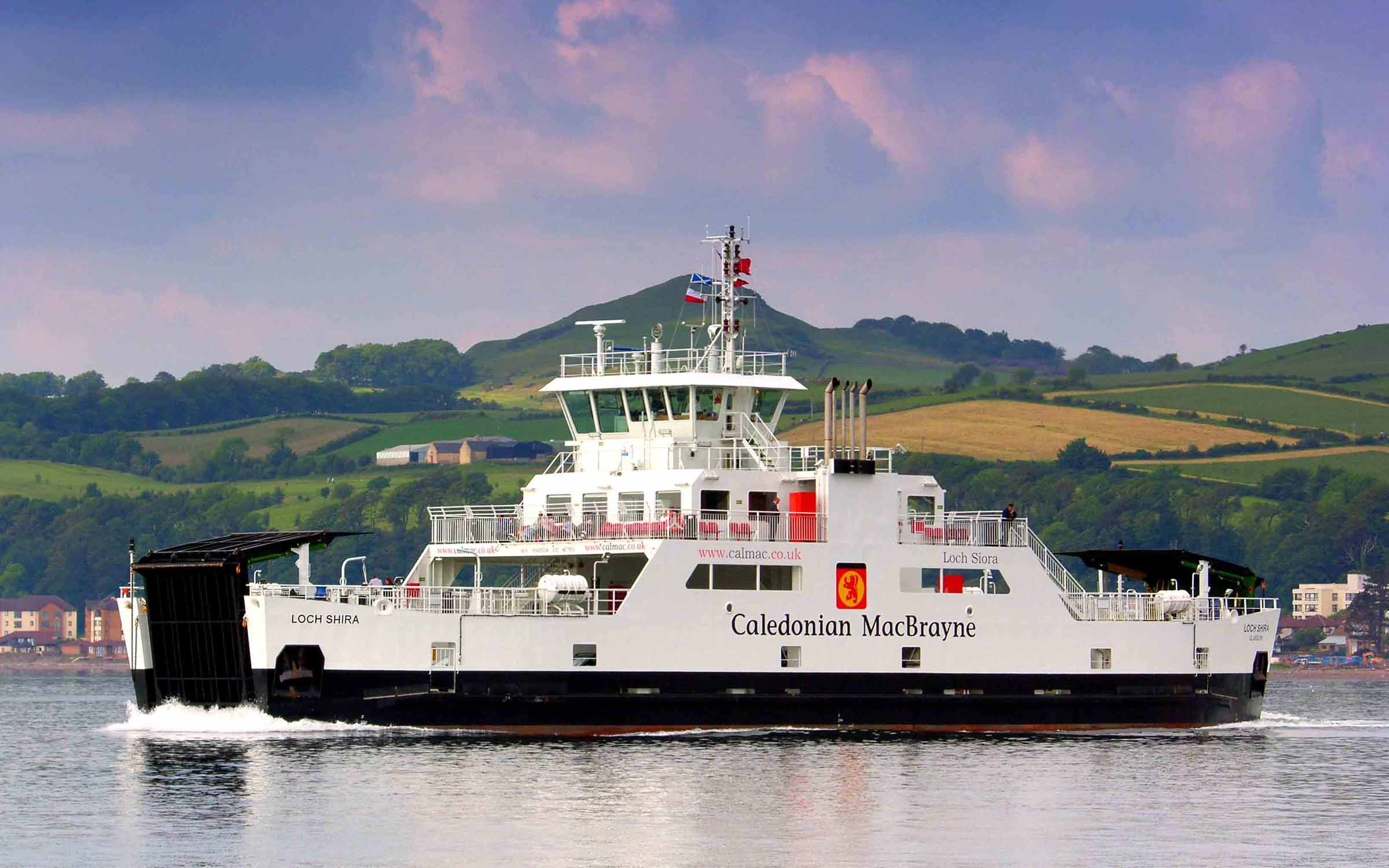 Loch Shira crossing to Cumbrae Slip (Ships of CalMac)