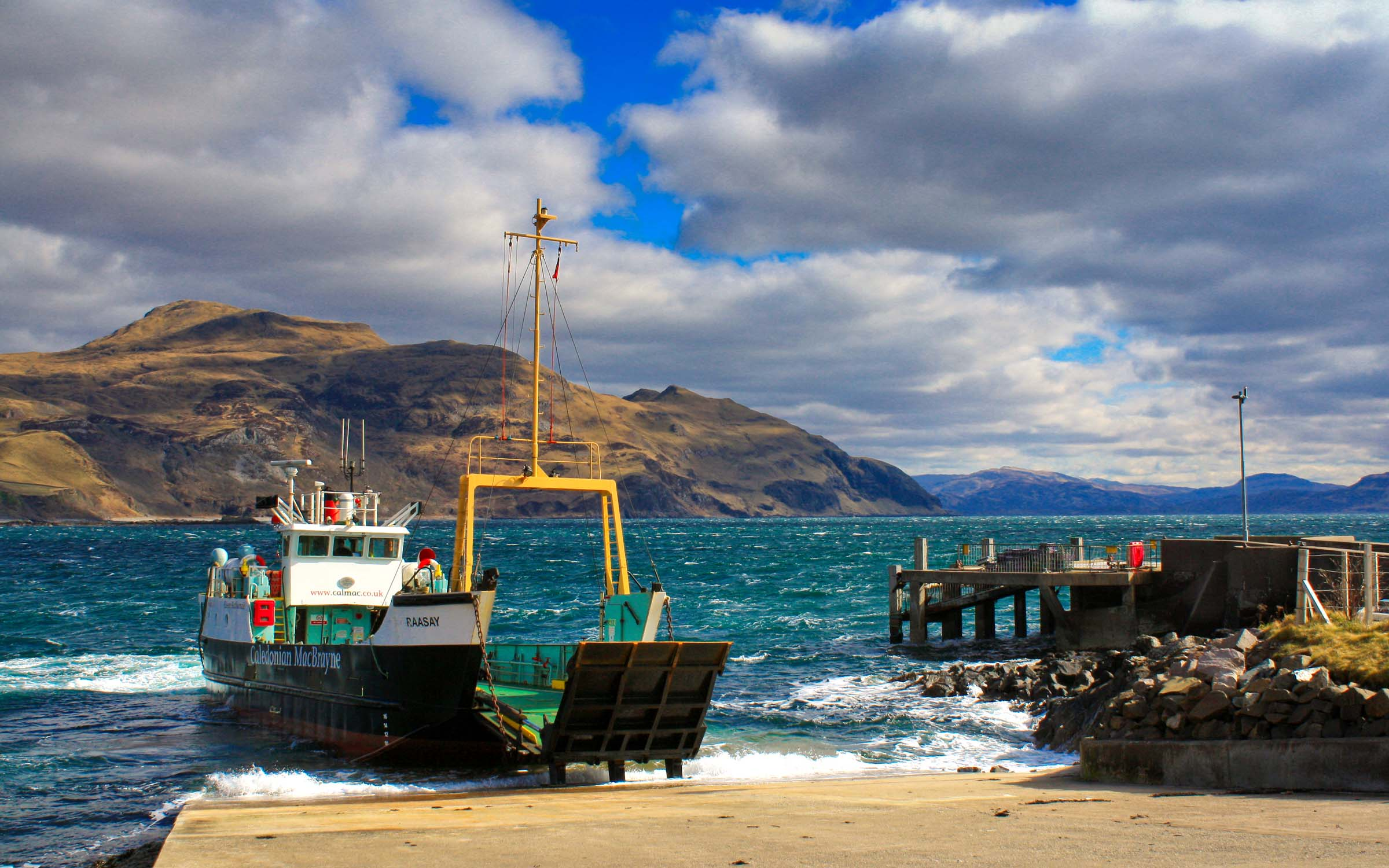 Raasay at Kilchoan slipway (Ships of CalMac)