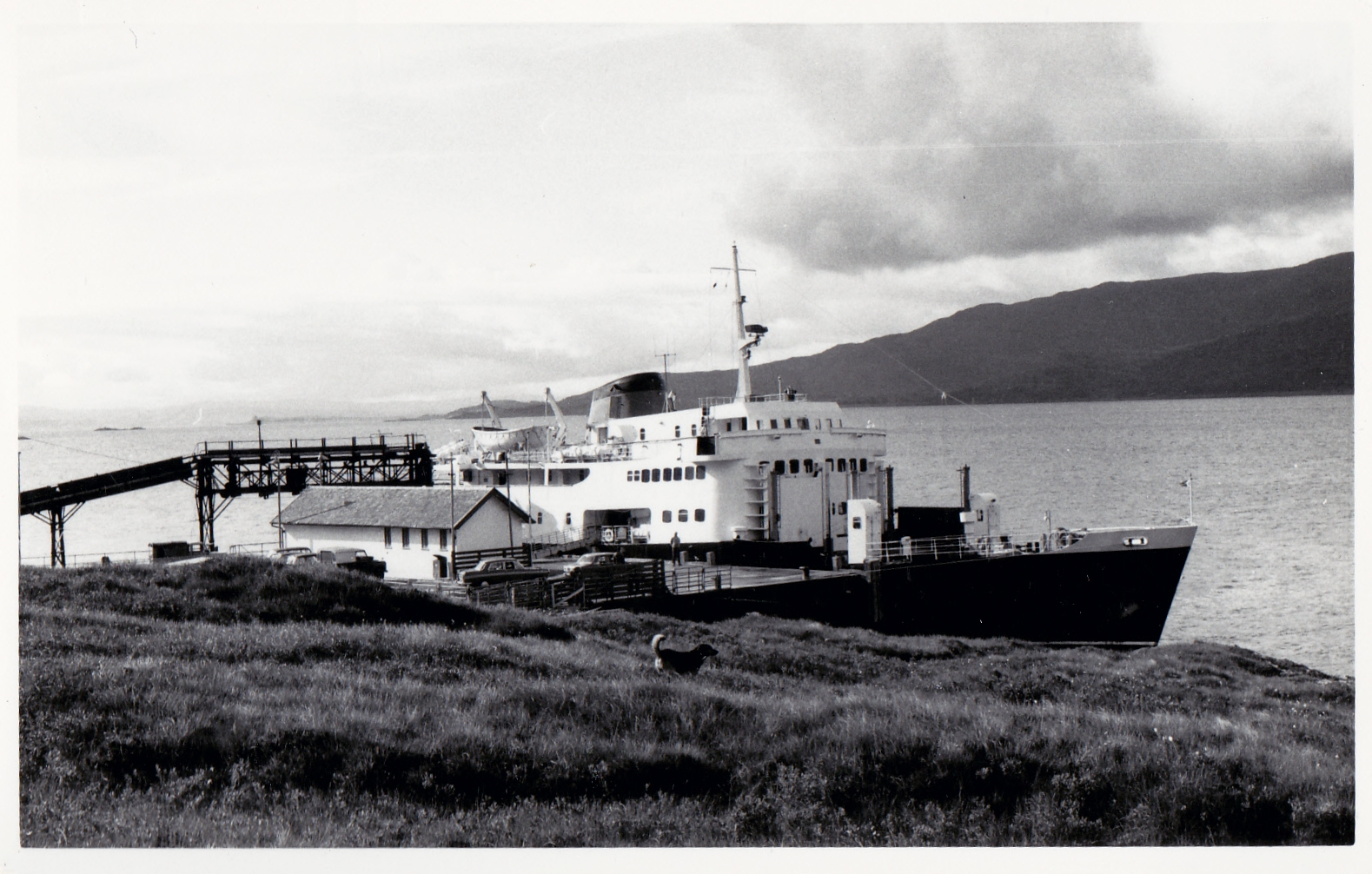 Columba calling at Lochaline (Jim Aikman Smith)