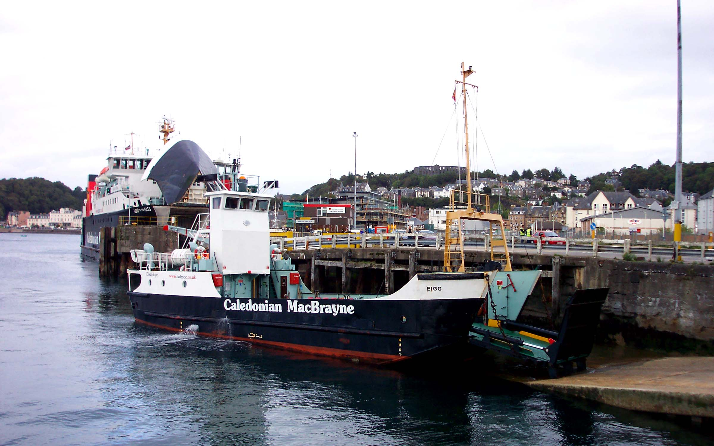 Eigg and Lord of the Isles at Oban (Ships of CalMac)