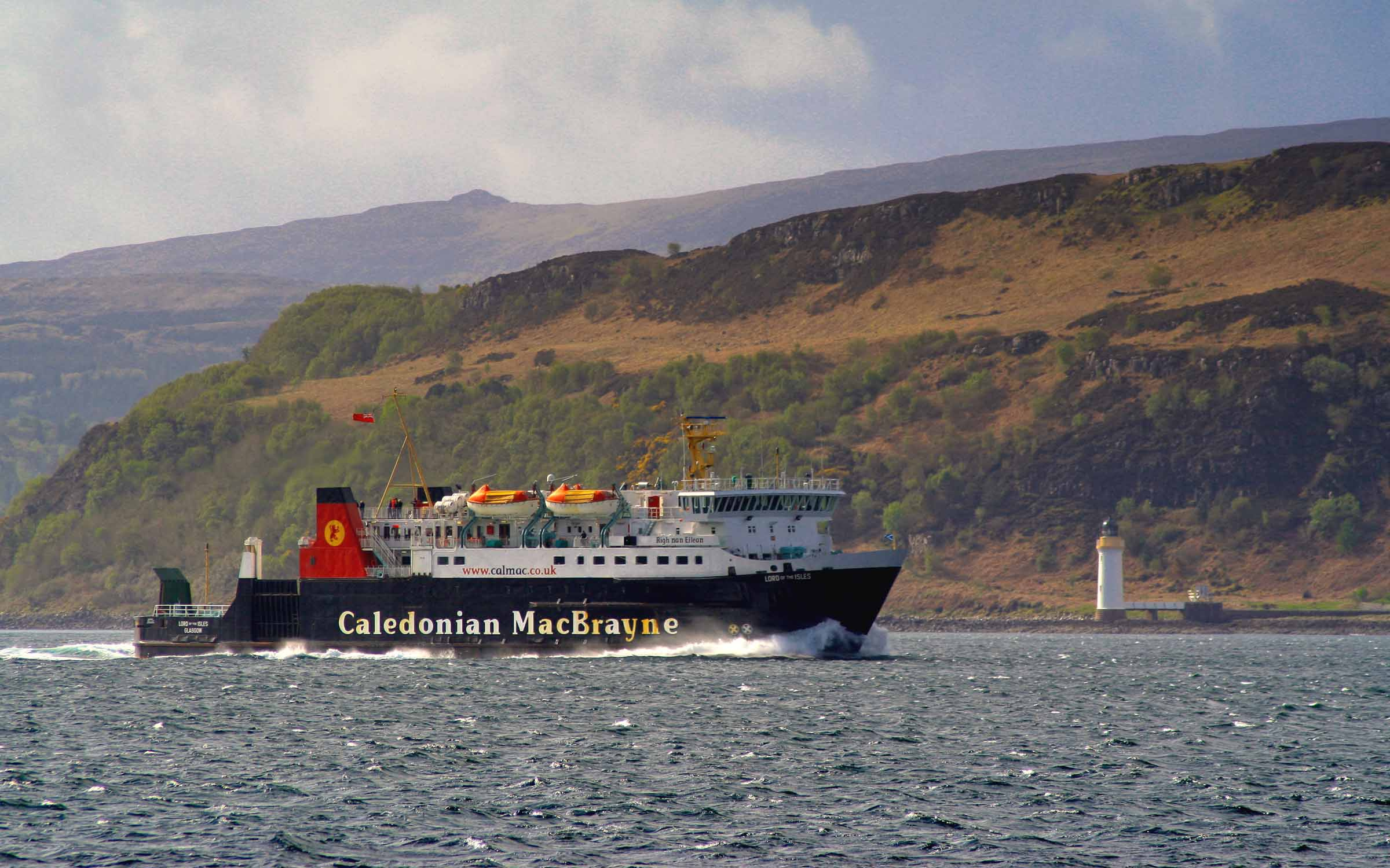 Lord of the Isles in the Sound of Mull (Ships of CalMac)