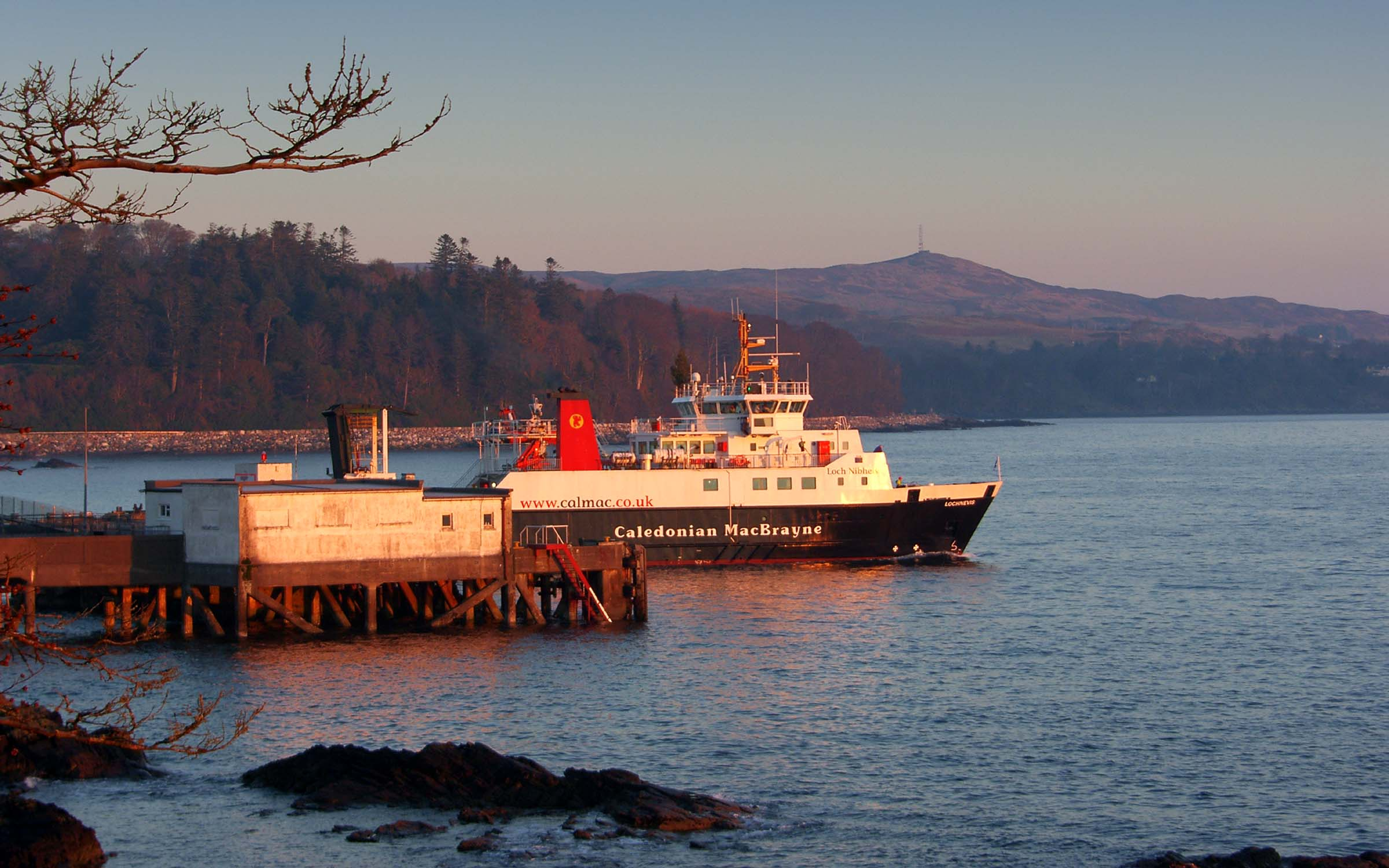 Lochnevis leaving Armadale (Ships of CalMac)