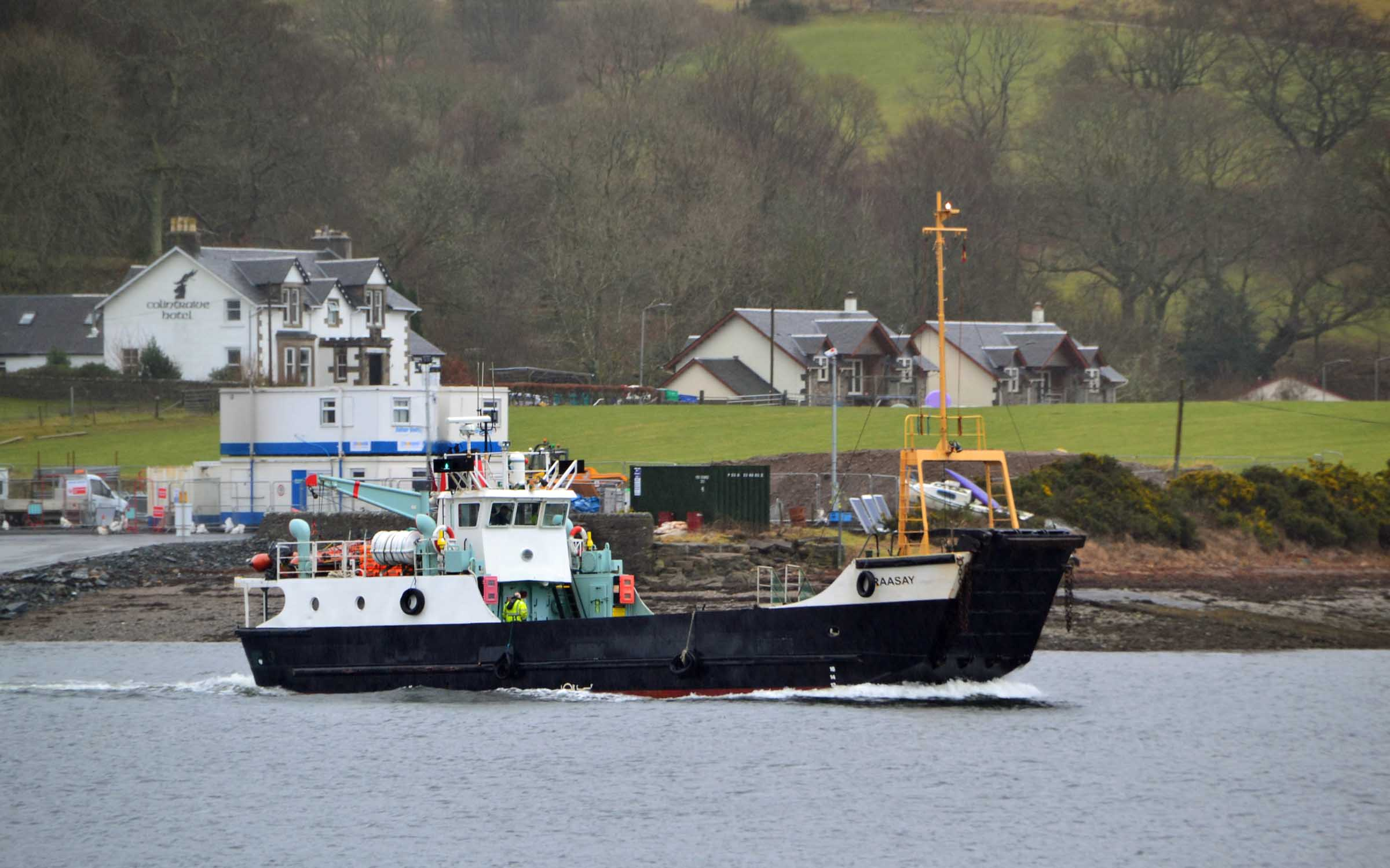 Raasay leaving Colintraive for the last time (Ships of CalMac)