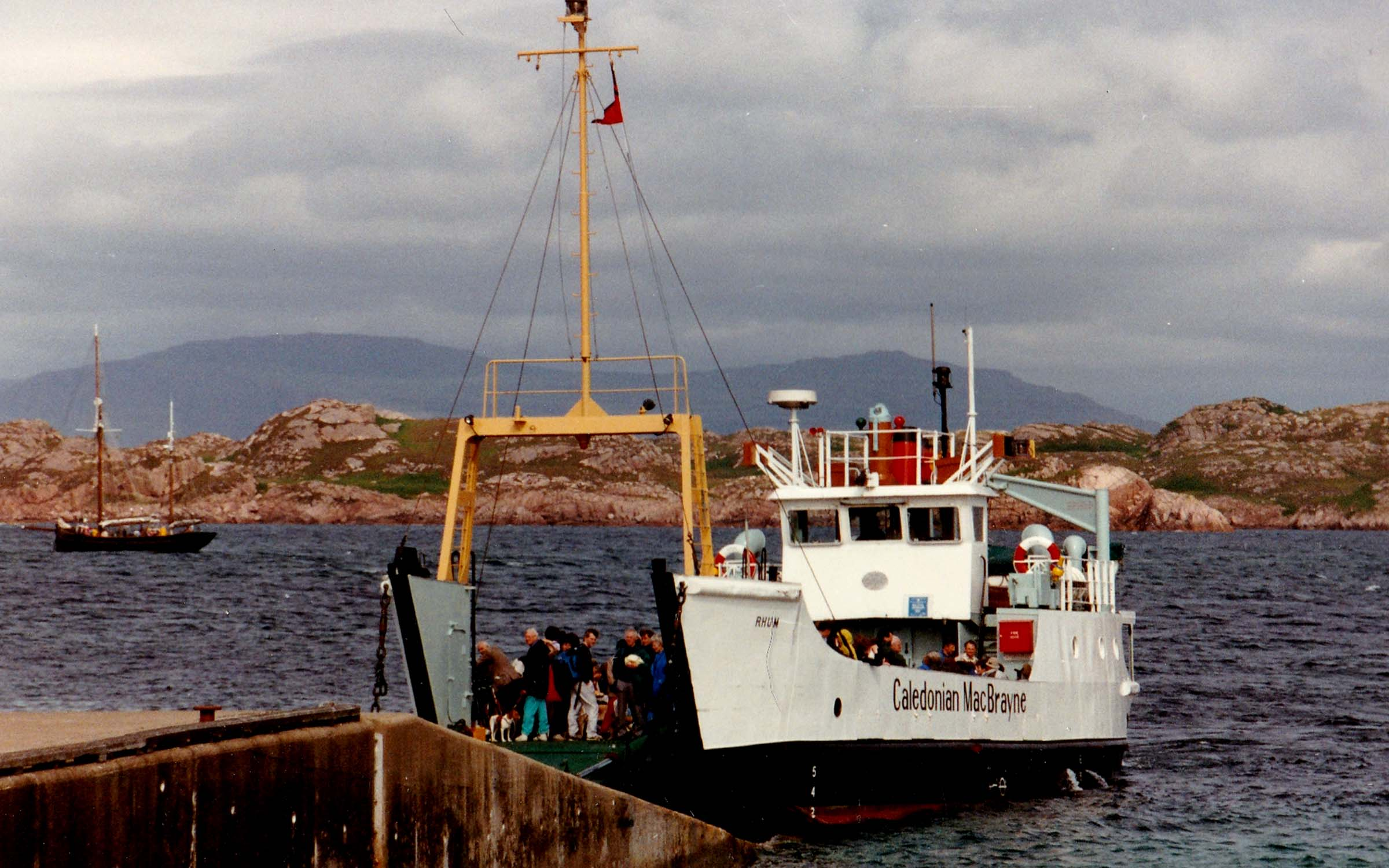 Rhum at Iona slipway (Jim Aikman Smith)