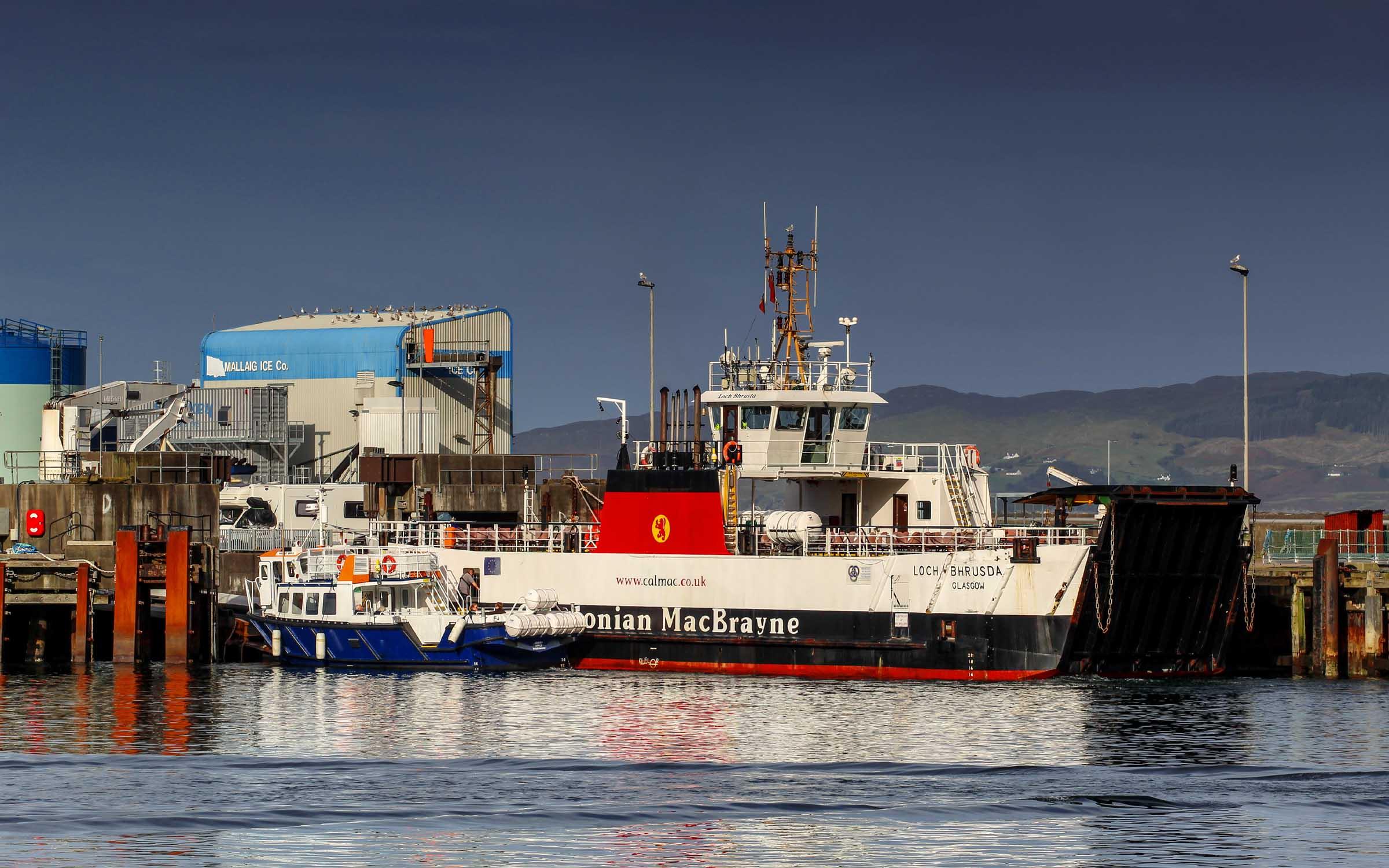 Loch Bhrusda and Highest Apple at Mallaig (Ships of CalMac)