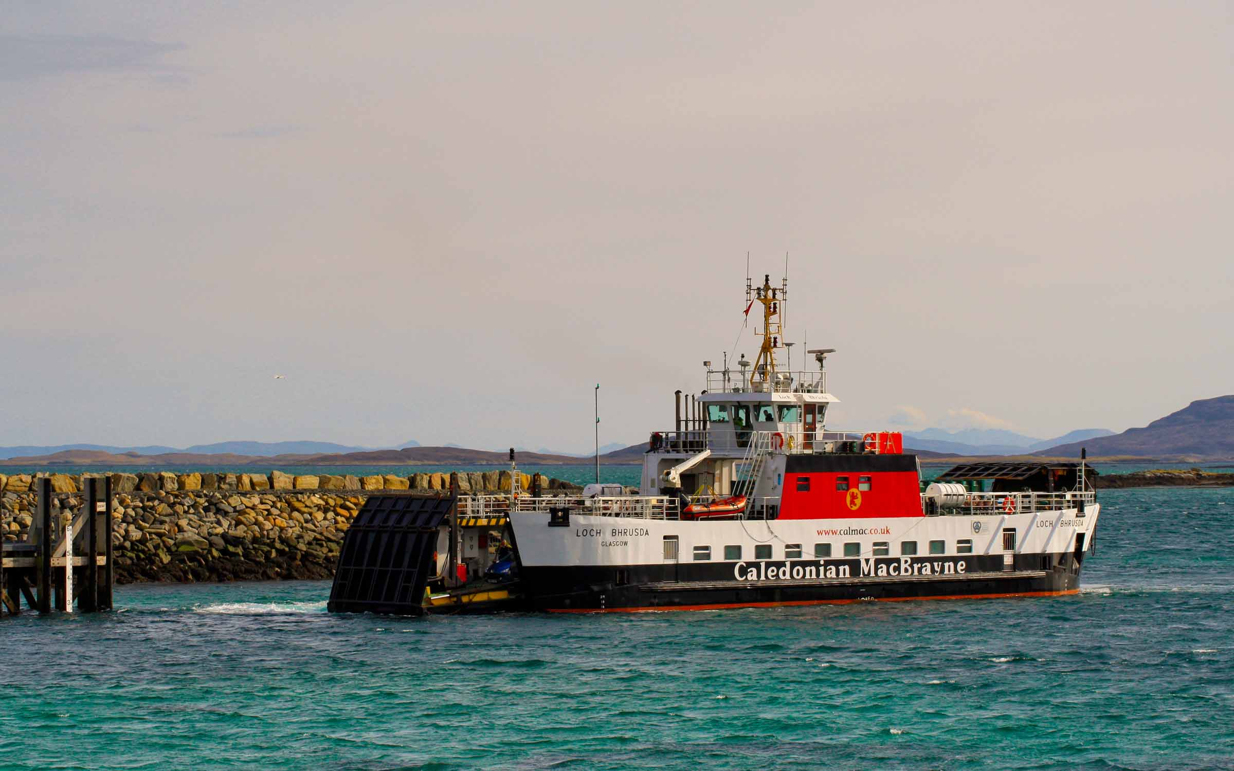 Loch Bhrusda arriving at Berneray (Ships of CalMac)