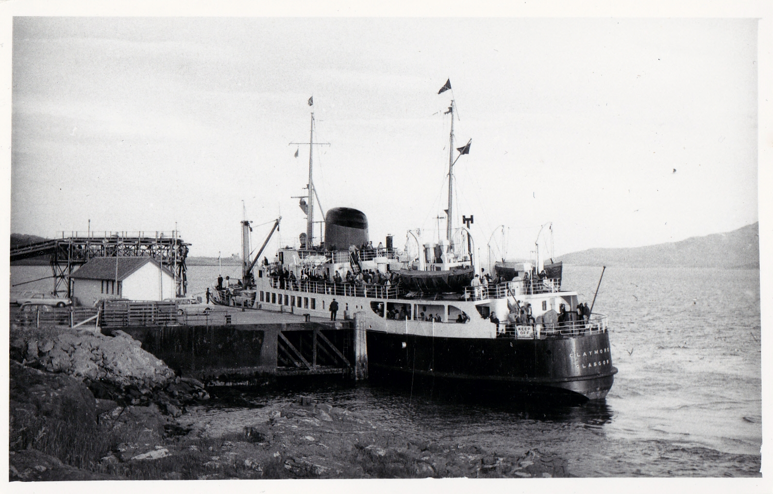Claymore at Lochaline steamer pier (Jim Aikman Smith)