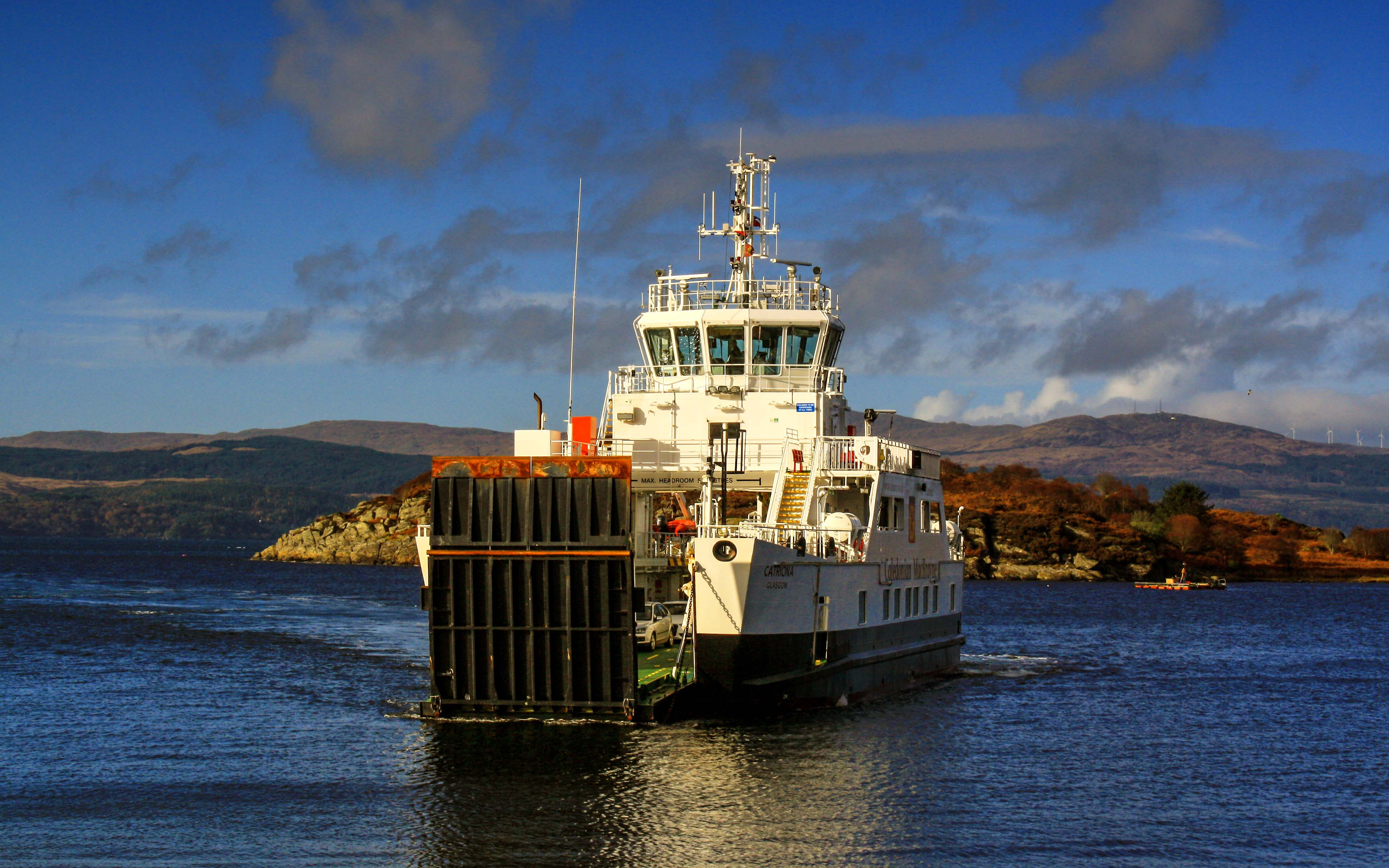 Catriona arriving at Portavadie (Ships of CalMac)