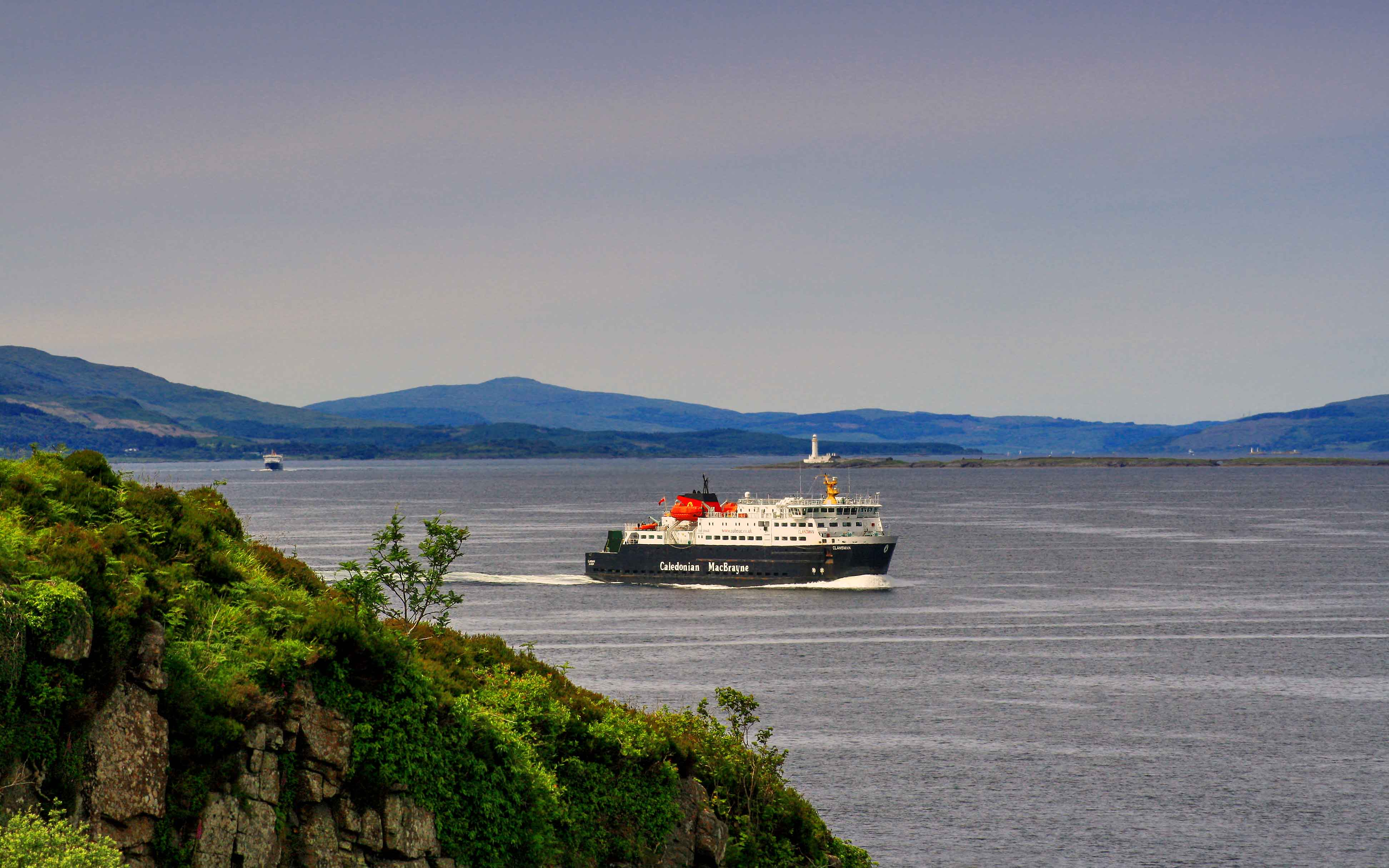 Clansman returning to Oban from Colonsay (Ships of CalMac)