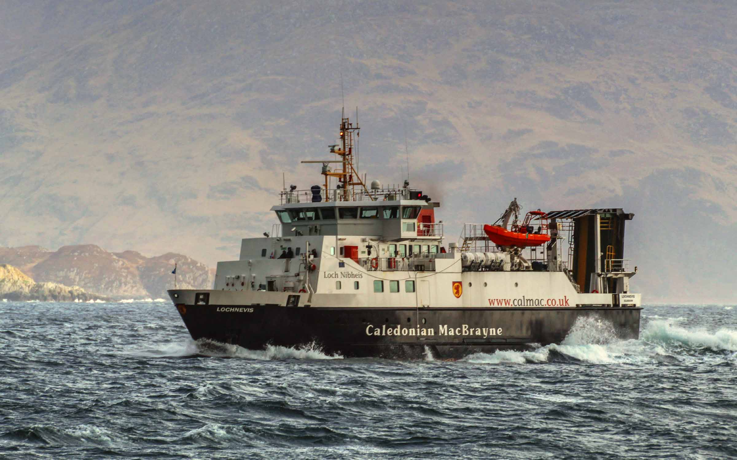 Lochnevis in the Sound of Sleat (Ships of CalMac)