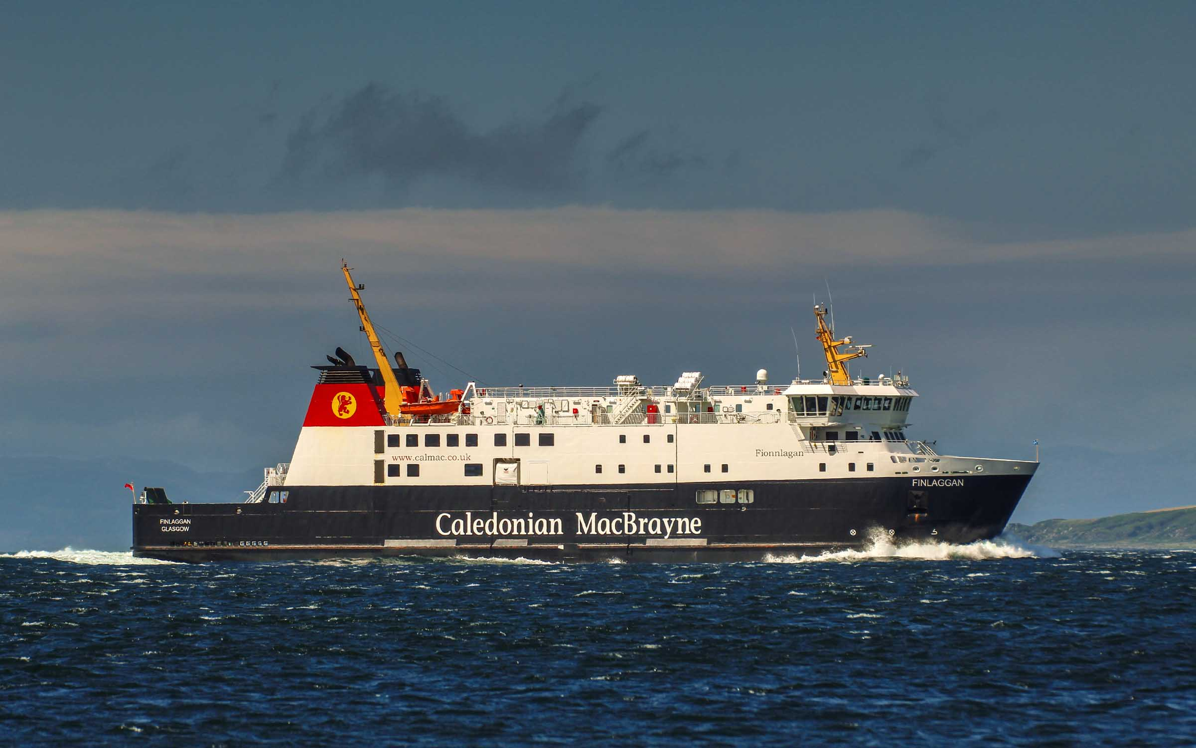 Finlaggan approaching West Loch Tarbert (Ships of CalMac)