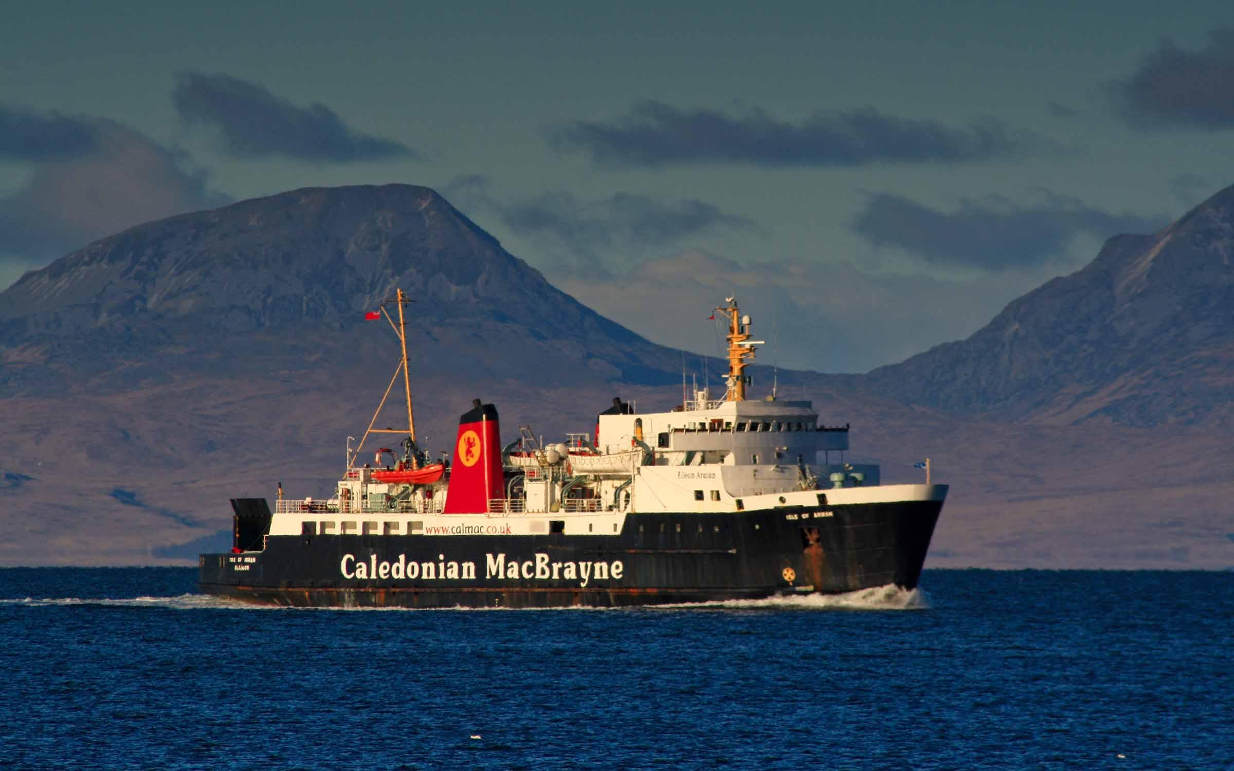 Isle of Arran inbound to Kennacraig (Ships of CalMac)