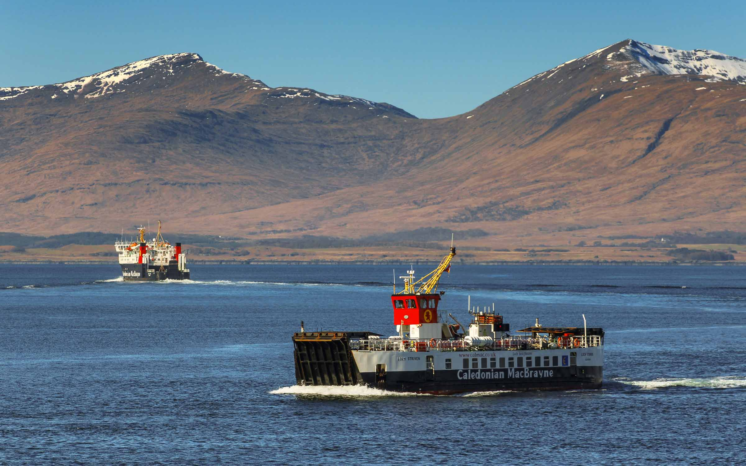 Loch Striven and Lord of the Isles off Kerrera (Ships of CalMac)