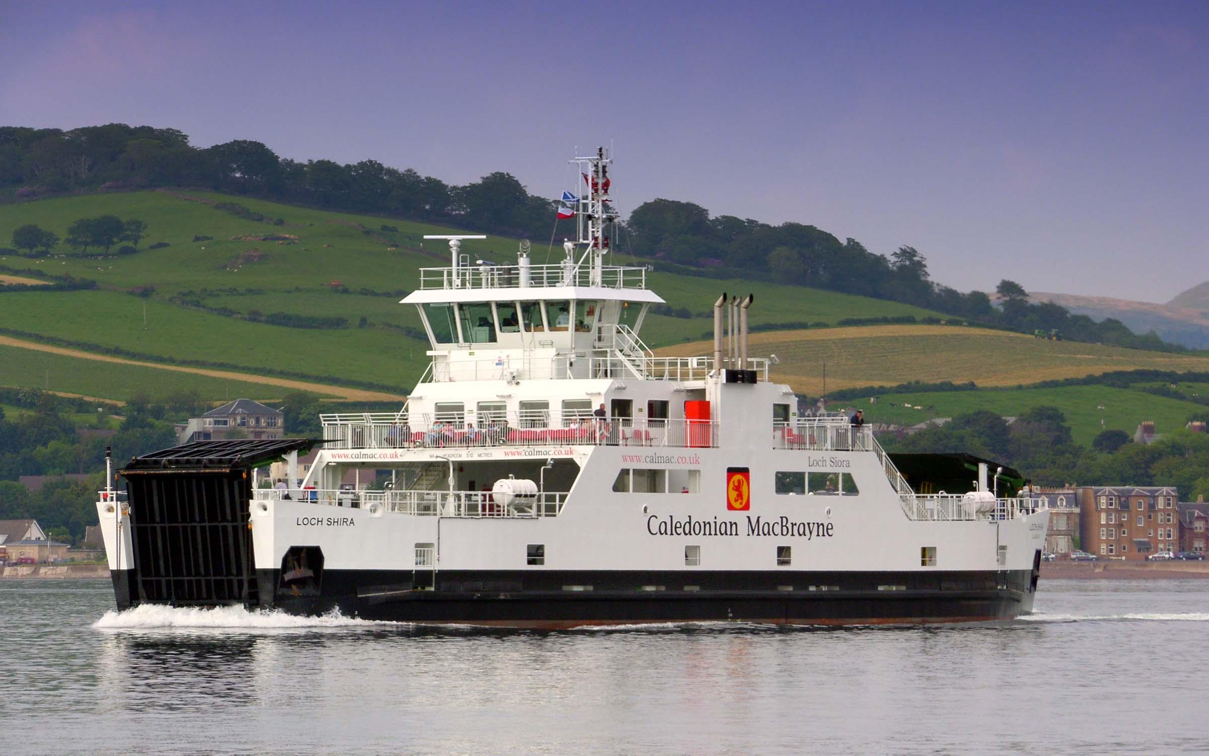 Loch Shira crossing to Cumbrae Slip (Ships of CalMac)