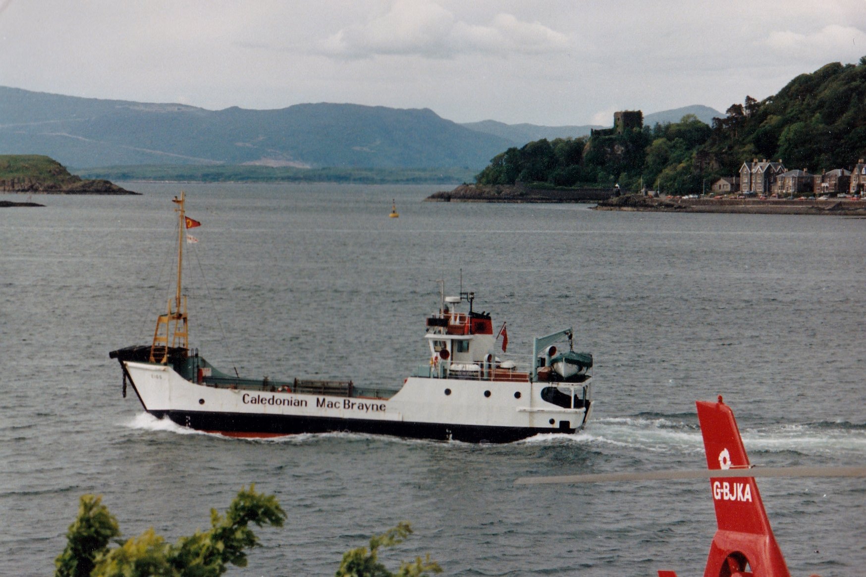 Eigg crossing Oban Bay (Jim Aikman Smith)