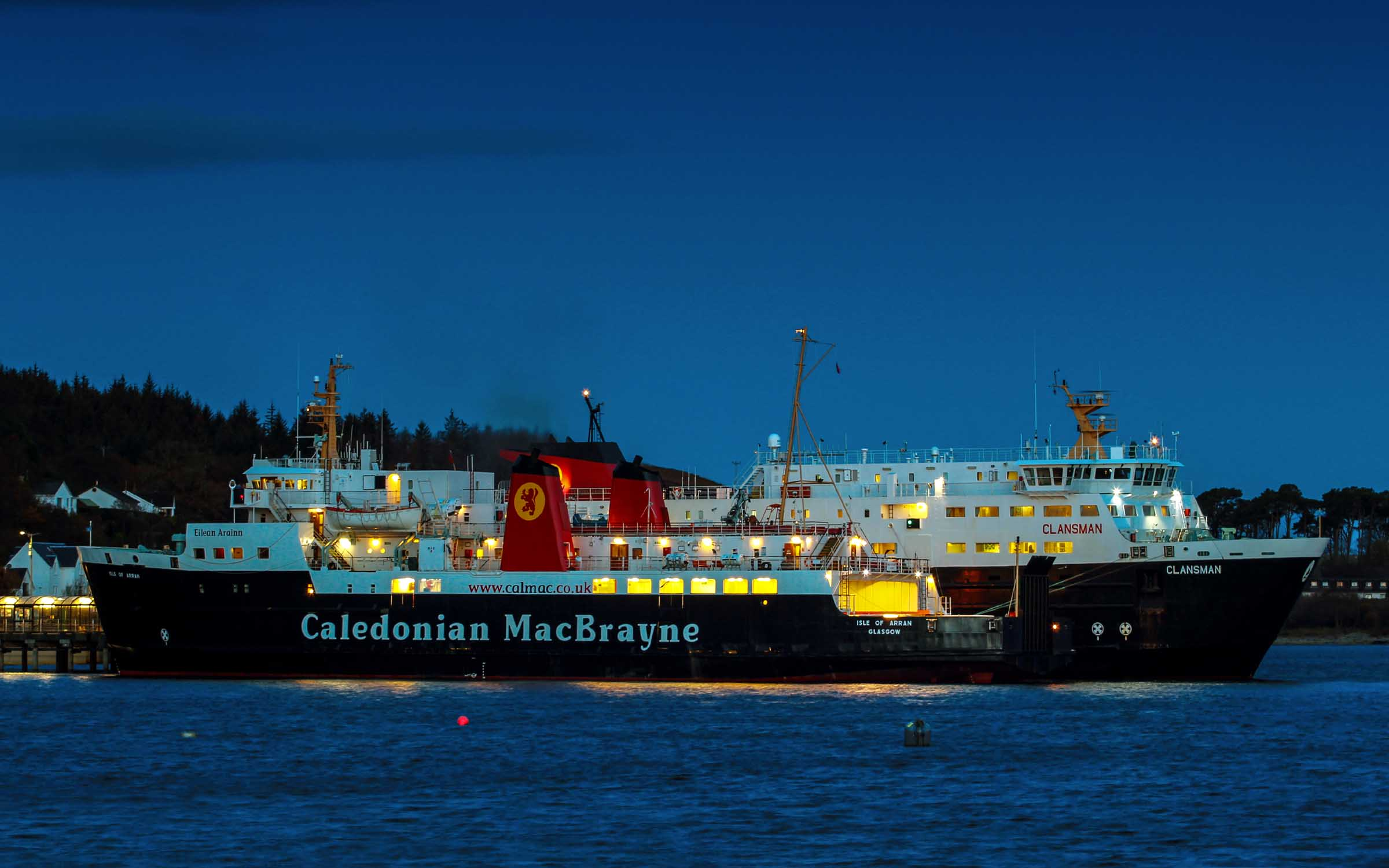Relief ferries Isle of Arran and Clansman at Craignure (Ships of CalMac)