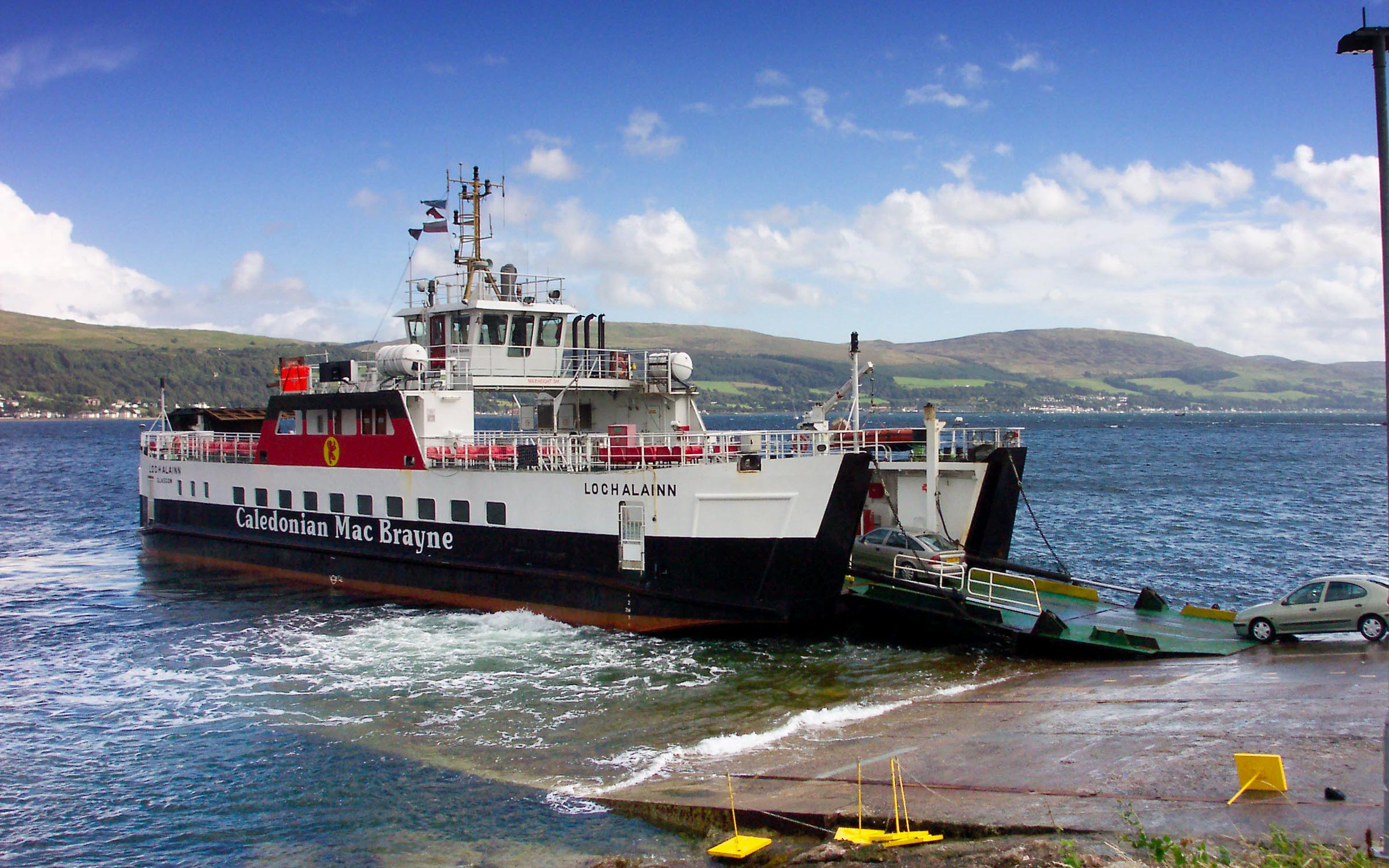 Loch Alainn loading at Cumbrae Slip (Ships of CalMac)