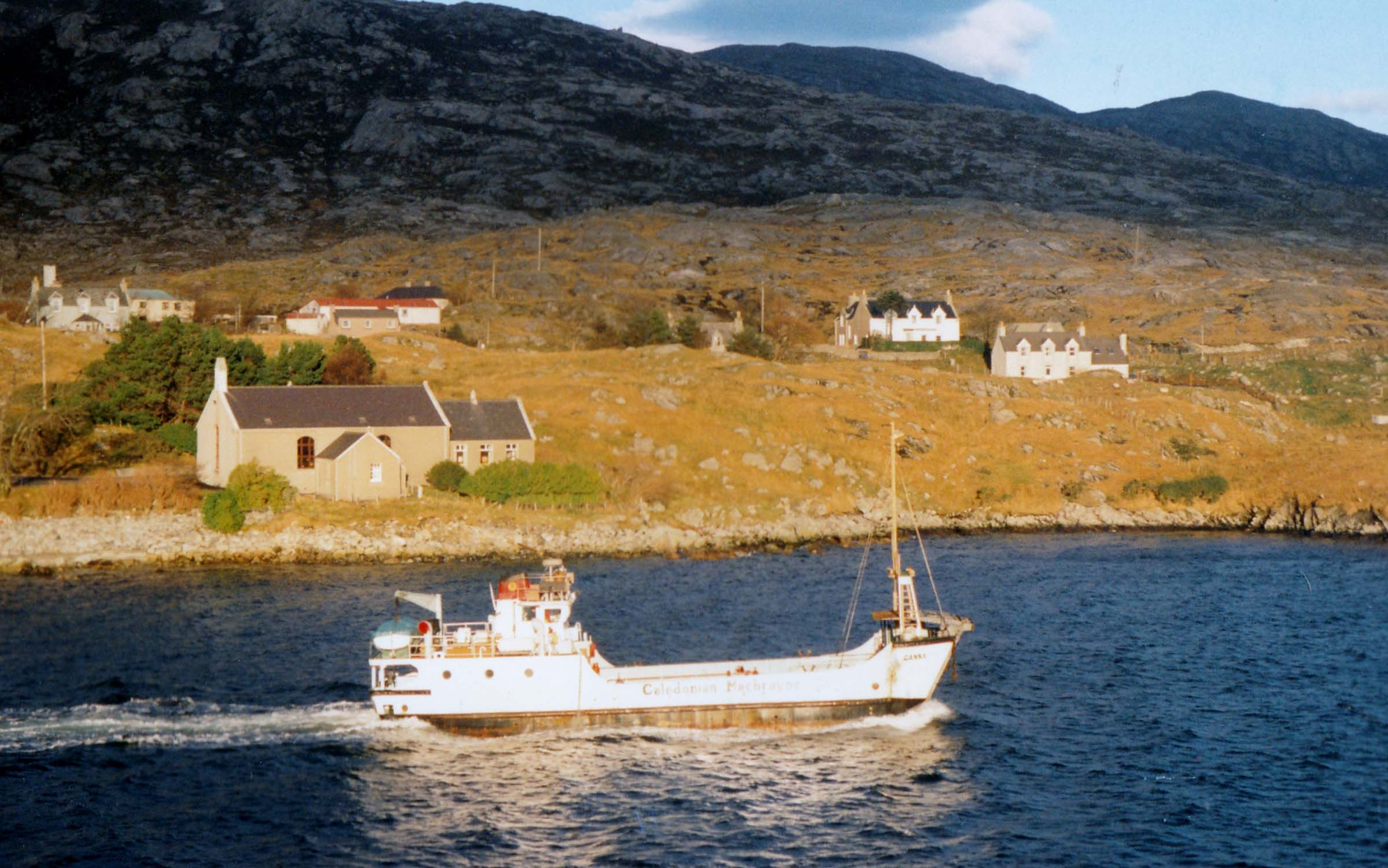 Canna leaving Tarbert, Harris (Jim Aikman Smith)