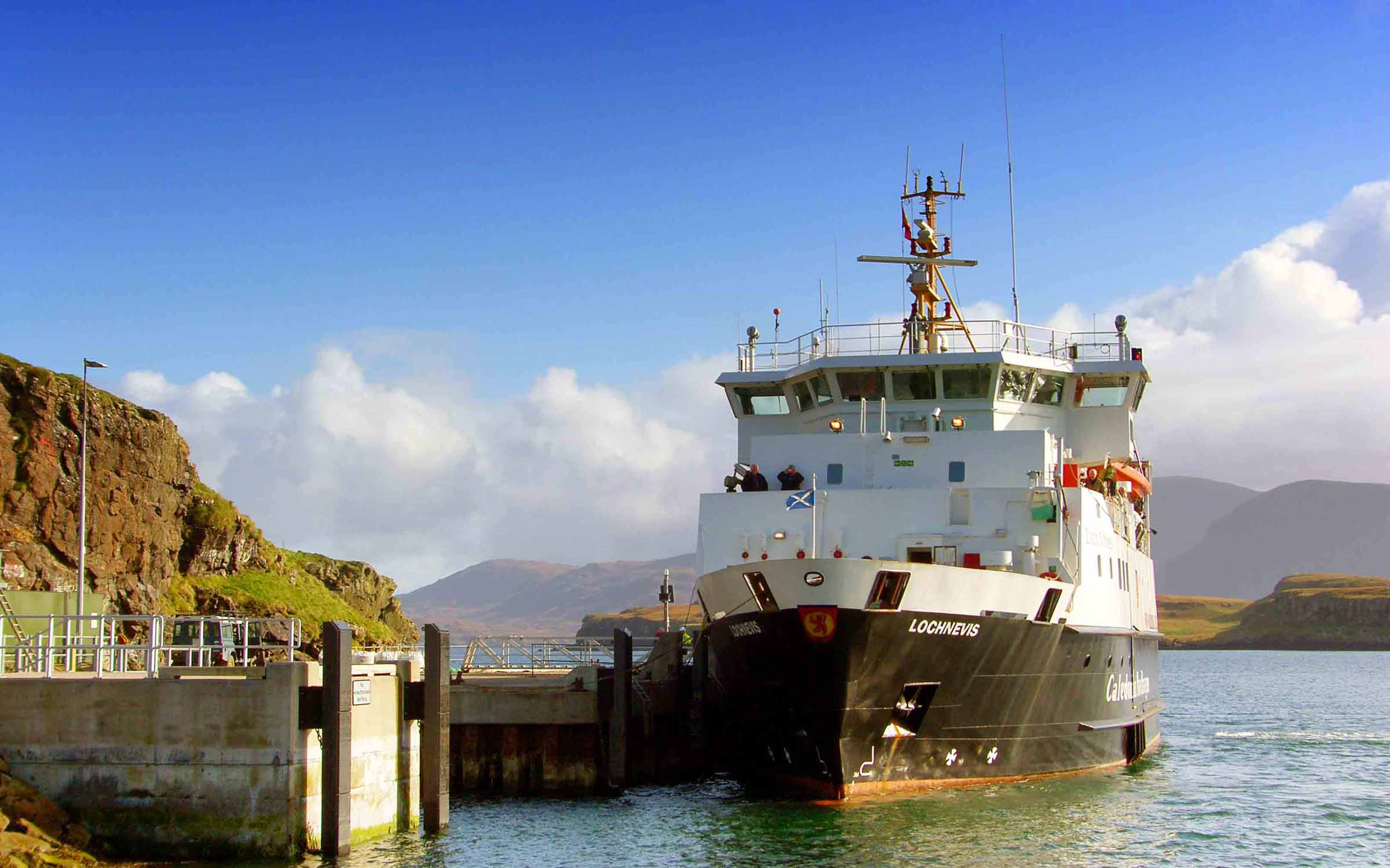 Lochnevis at Canna (Ships of CalMac)