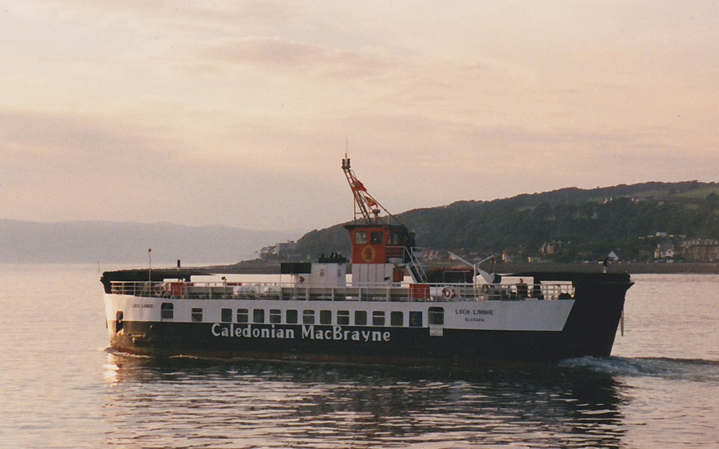 Loch Linnhe leaving Largs (Ships of CalMac)