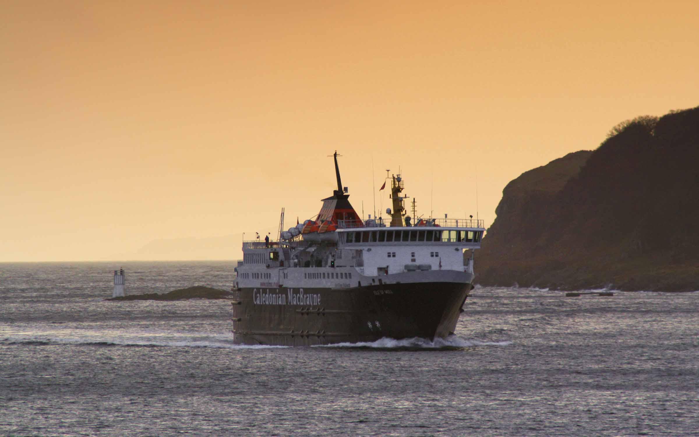 Isle of Mull in the Sound of Kerrera (Ships of CalMac)