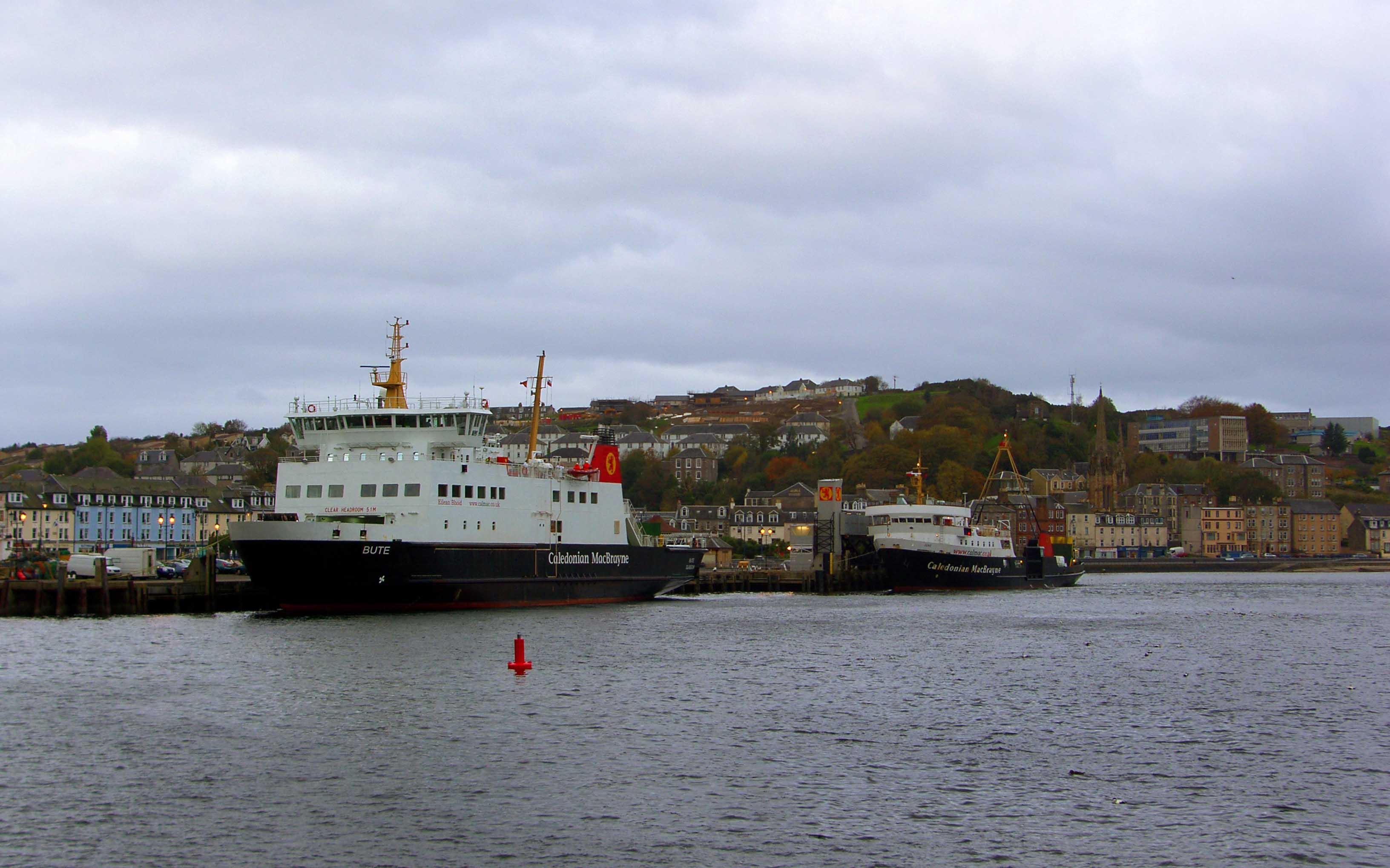 Bute and Juno at Rothesay (Ships of CalMac)