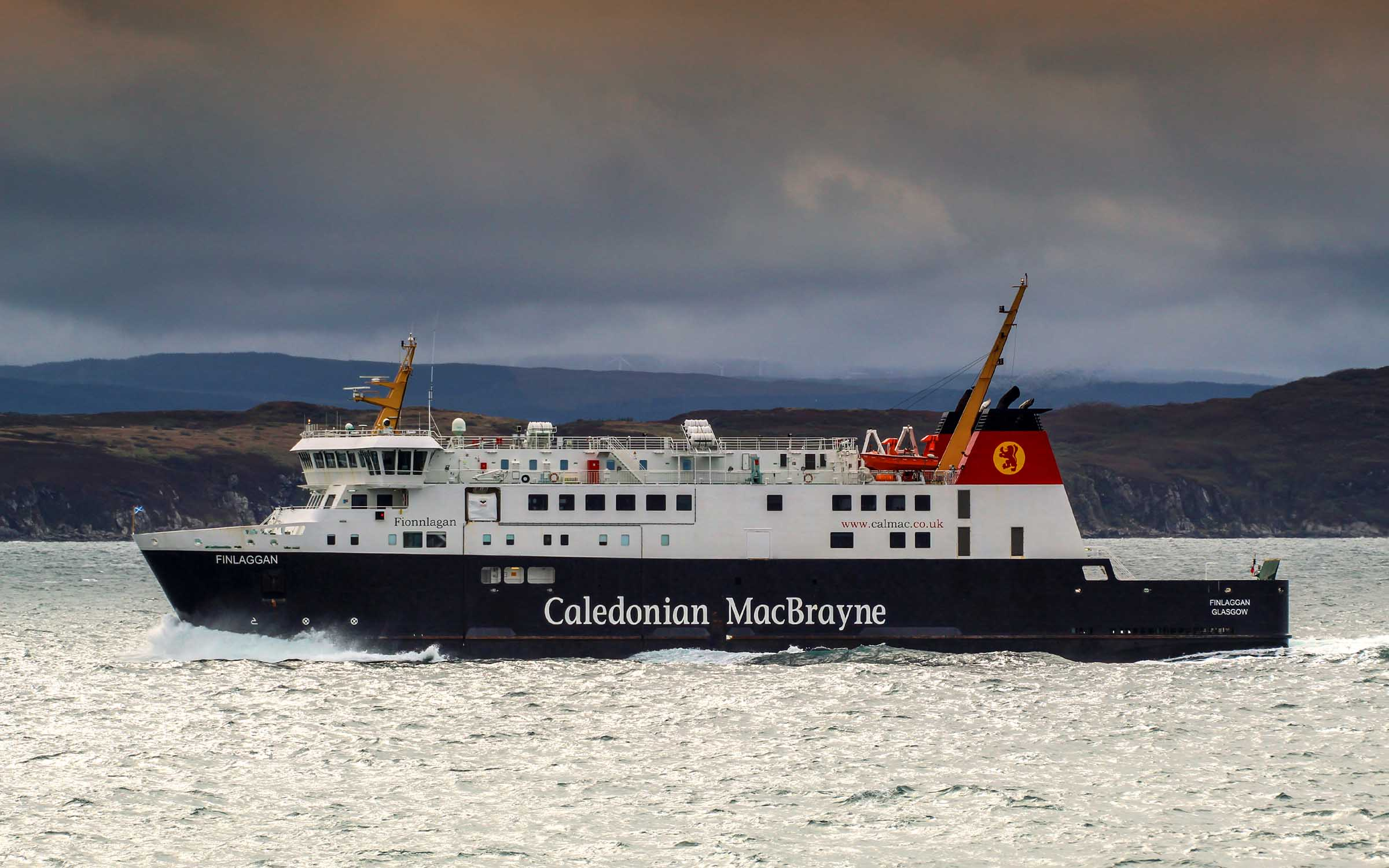 Finlaggan off the west of Gigha (Ships of CalMac)