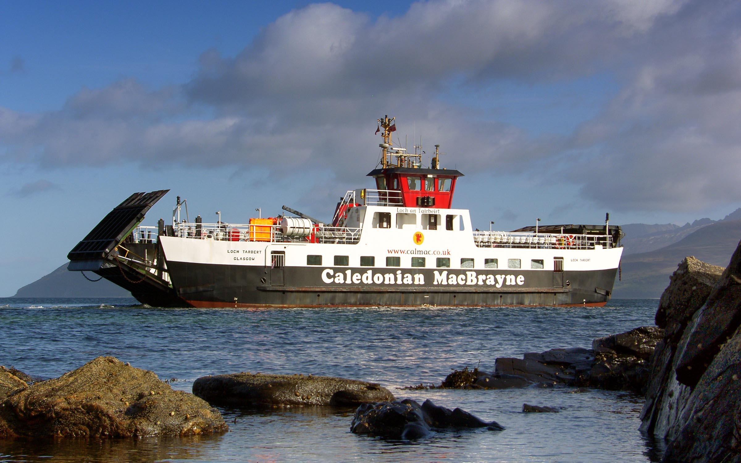 Loch Tarbert pulling away from Claonaig (Ships of CalMac)