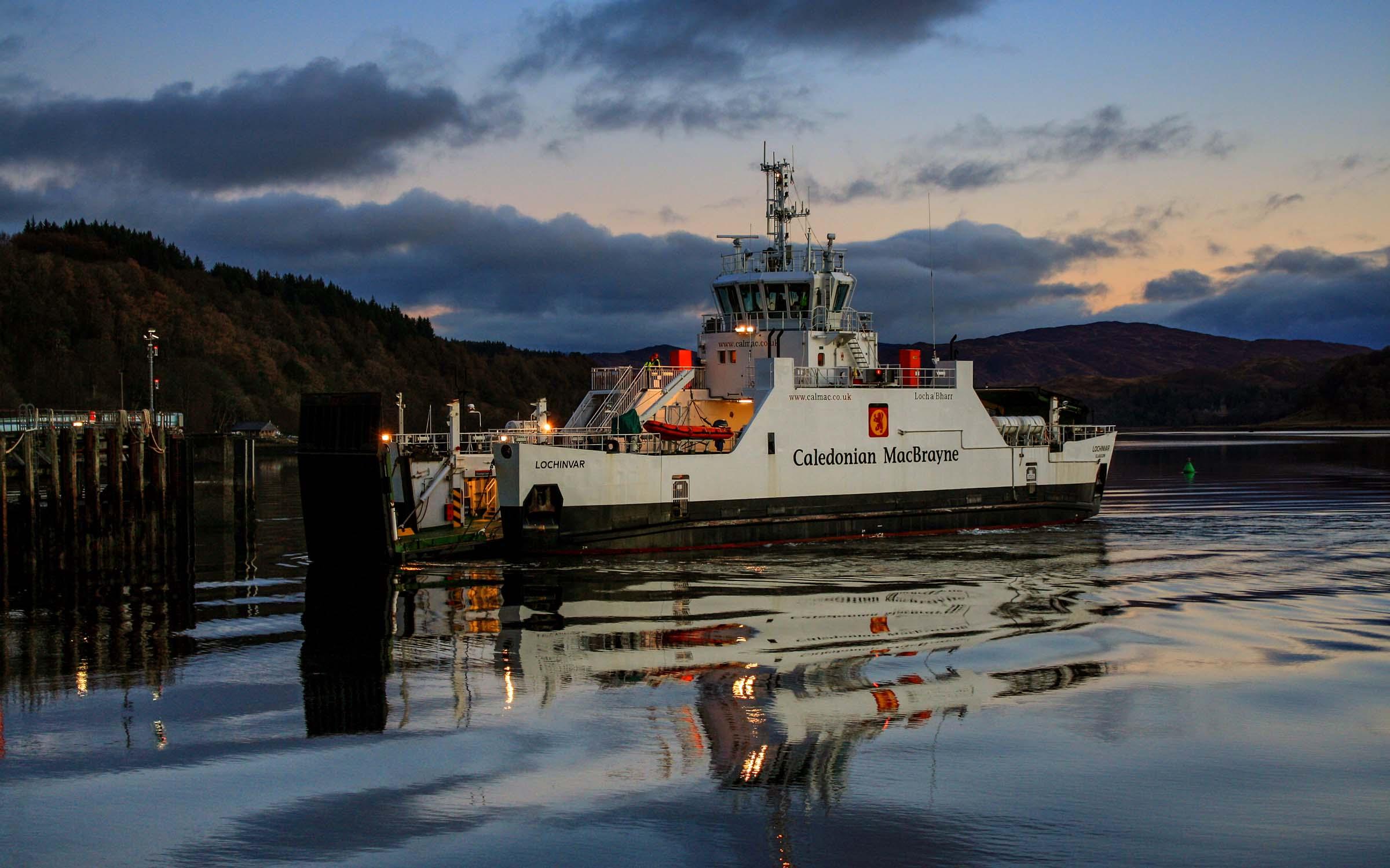 Lochinvar arriving at Lochaline (Ships of CalMac)