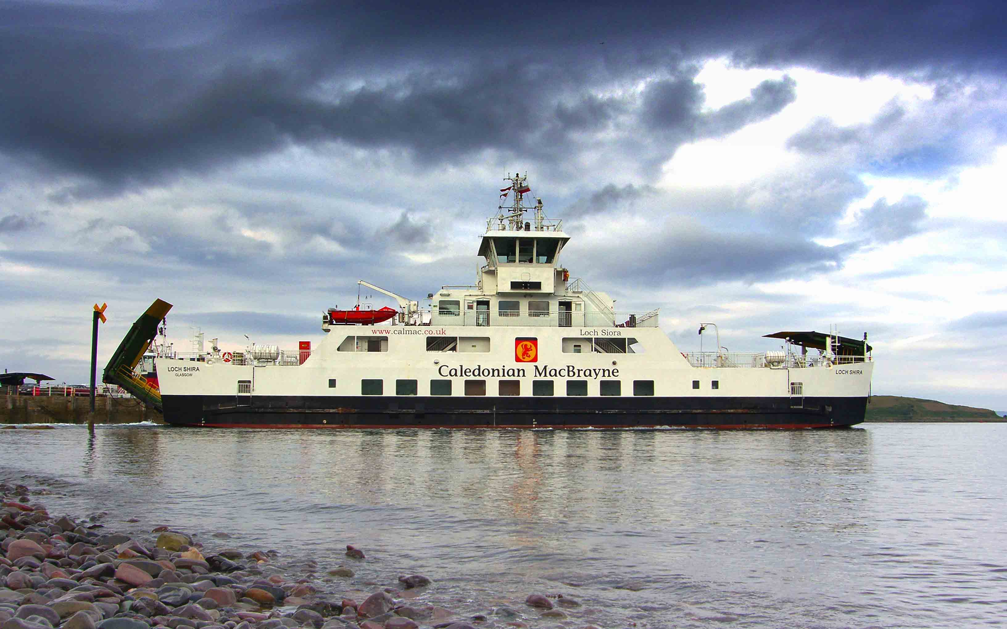 Loch Shira leaving Largs (Ships of CalMac)