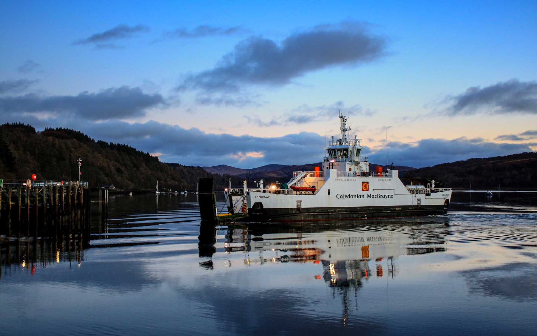 Lochinvar arriving at Lochaline (Photo: SoC Crew)