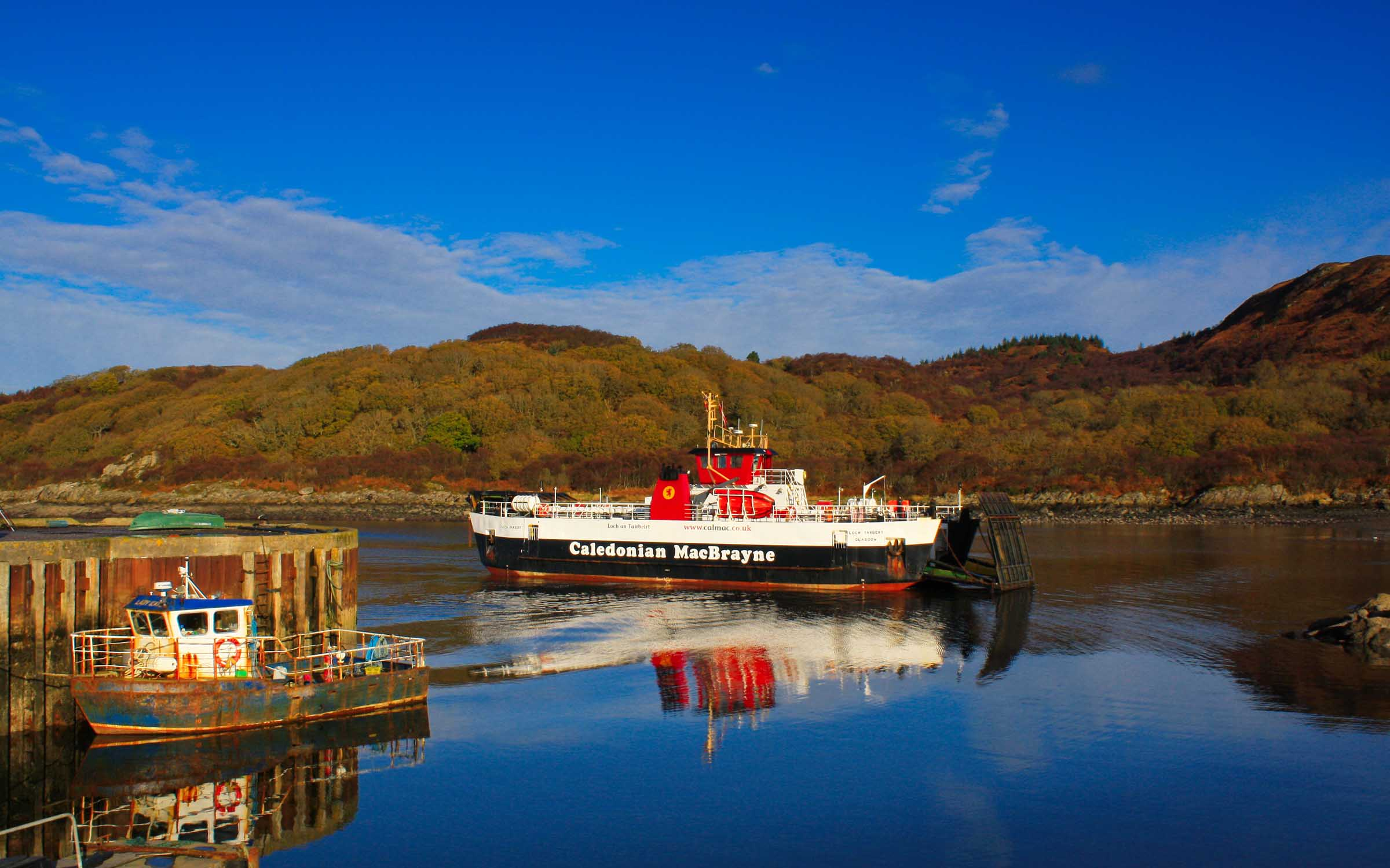 Loch Tarbert arriving at Portavadie (Ships of CalMac)