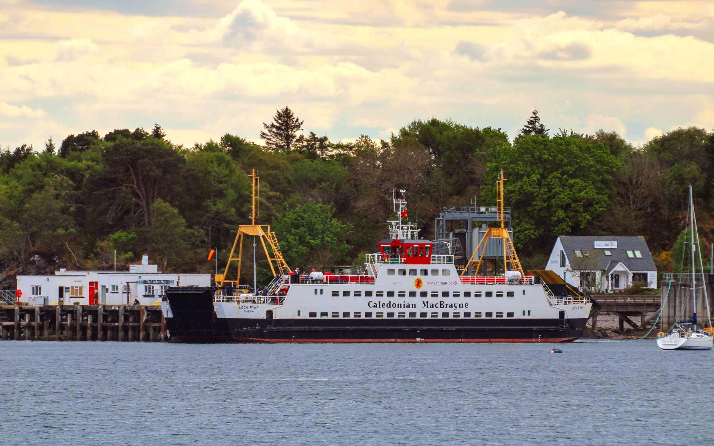 Loch Fyne leaving Armadale (Ships of CalMac)