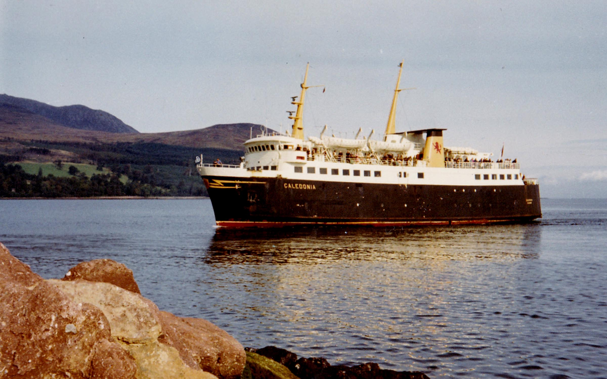 Caledonia arriving at Brodick (Jim Aikman Smith)