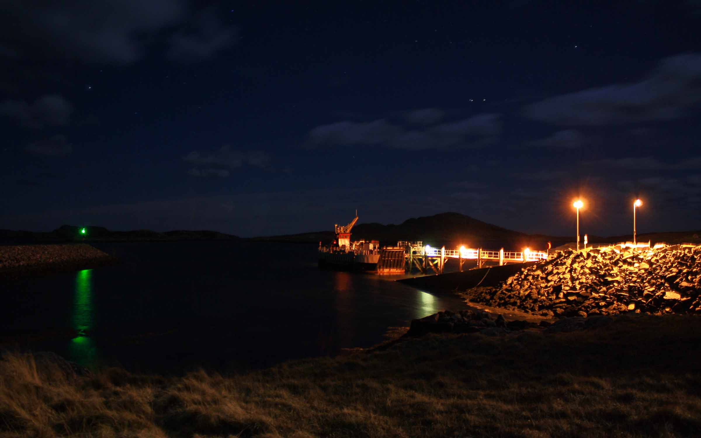 Loch Linnhe berthed at Ardmhor overnight (Ships of CalMac)