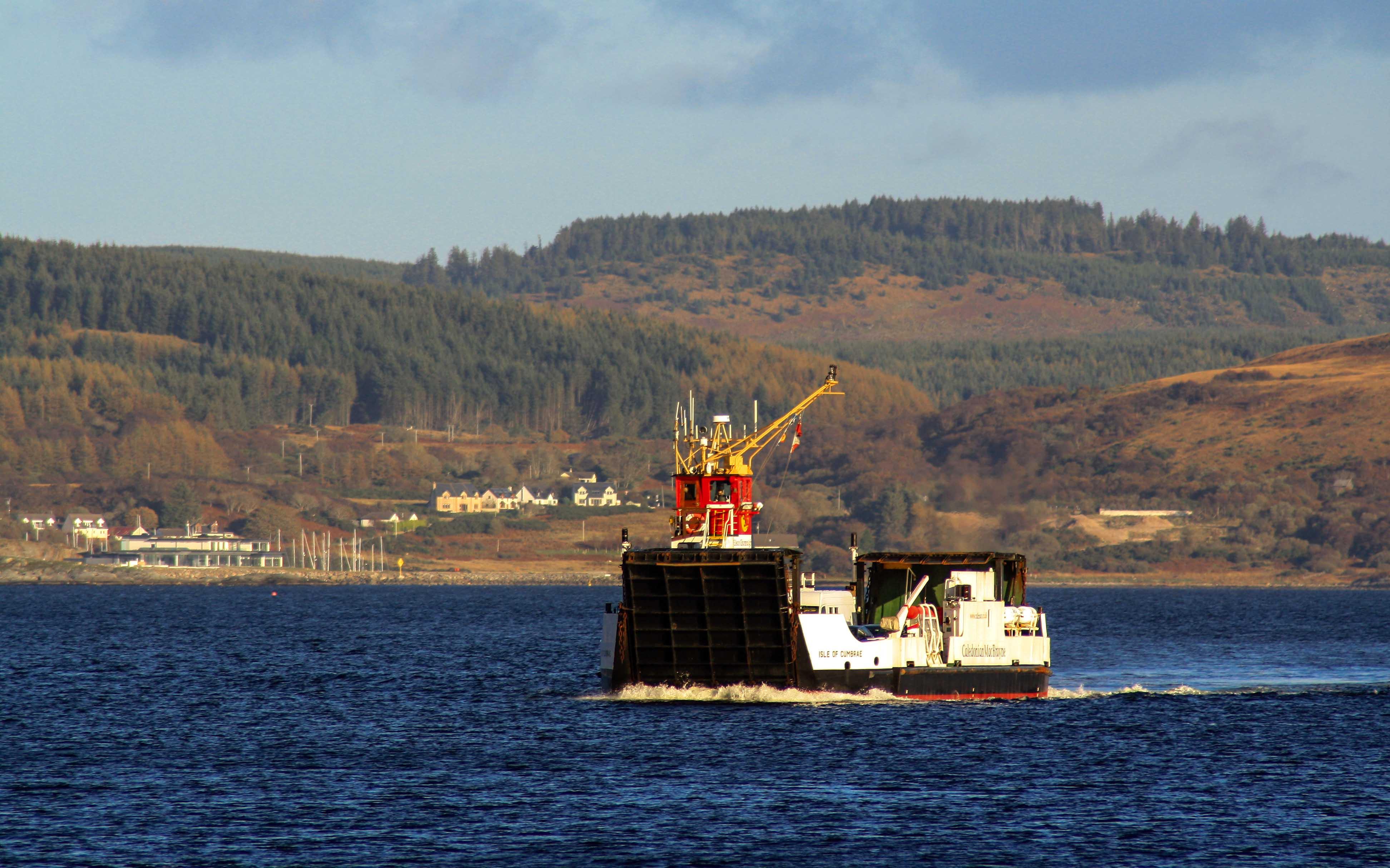 Isle of Cumbrae in Loch Fyne (Ships of CalMac)