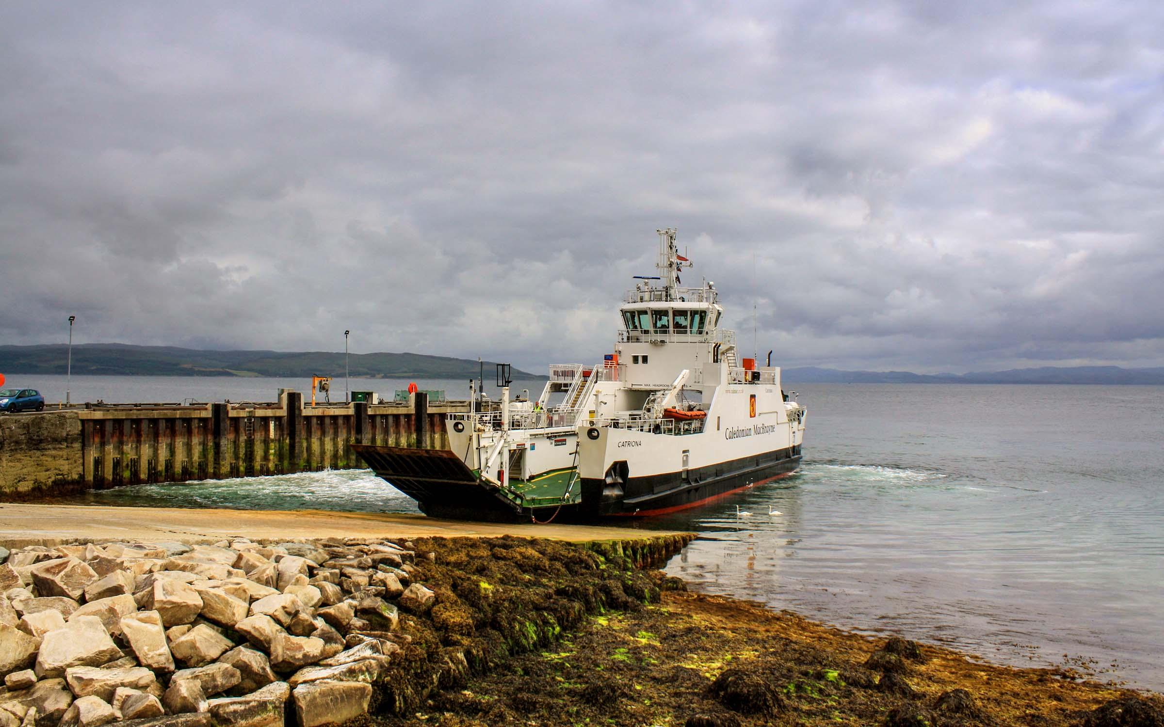 Catriona at Lochranza (Ships of CalMac)