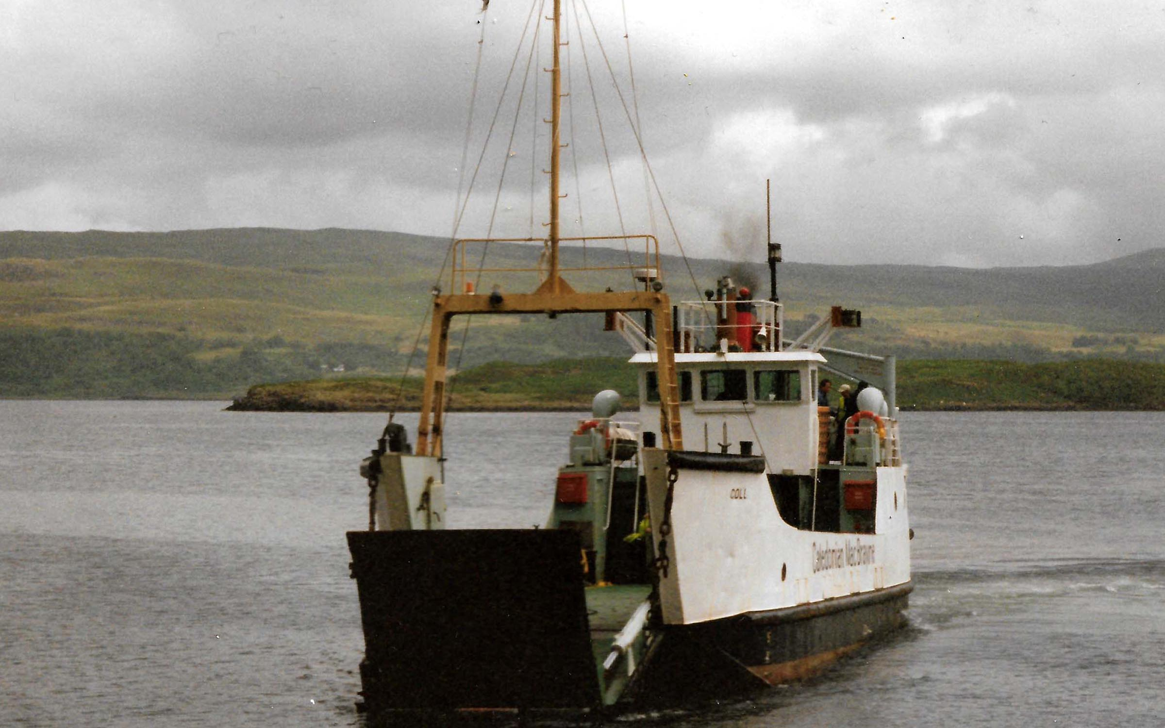 Coll arriving at Tobermory slipway (Ships of CalMac)