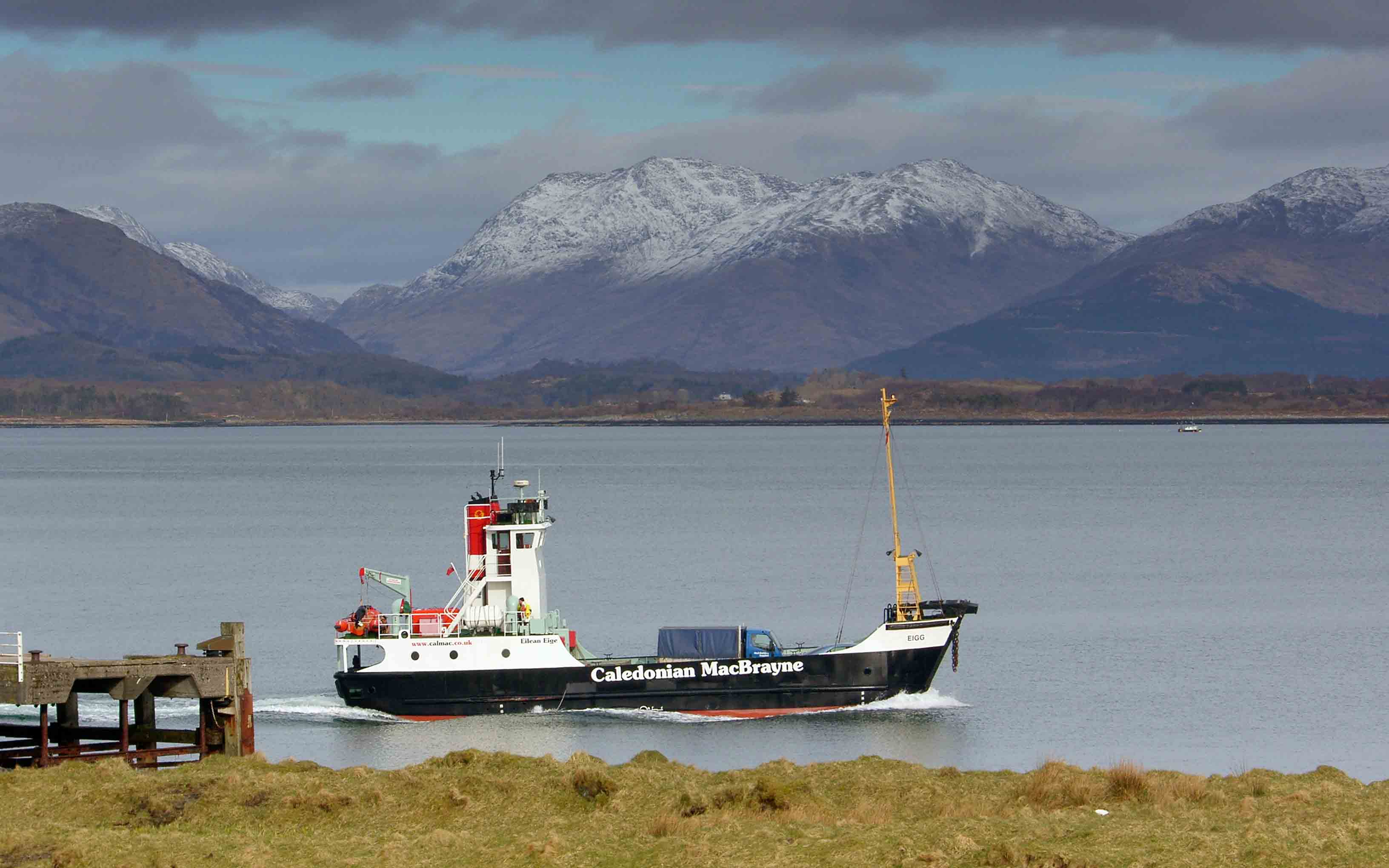 Eigg leaving Lismore (Ships of CalMac)