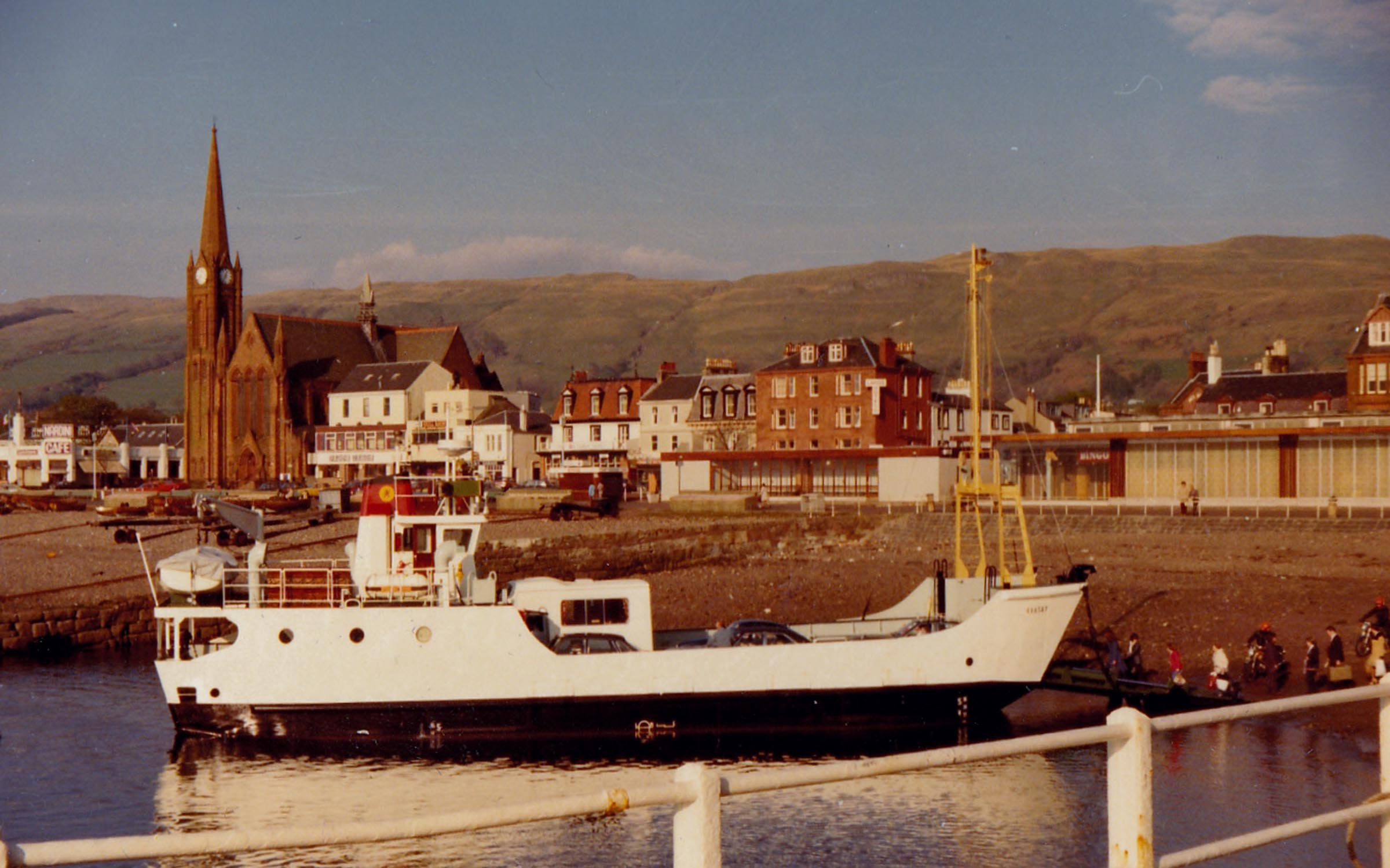 Raasay's first day in service, Largs (Jim Aikman Smith)