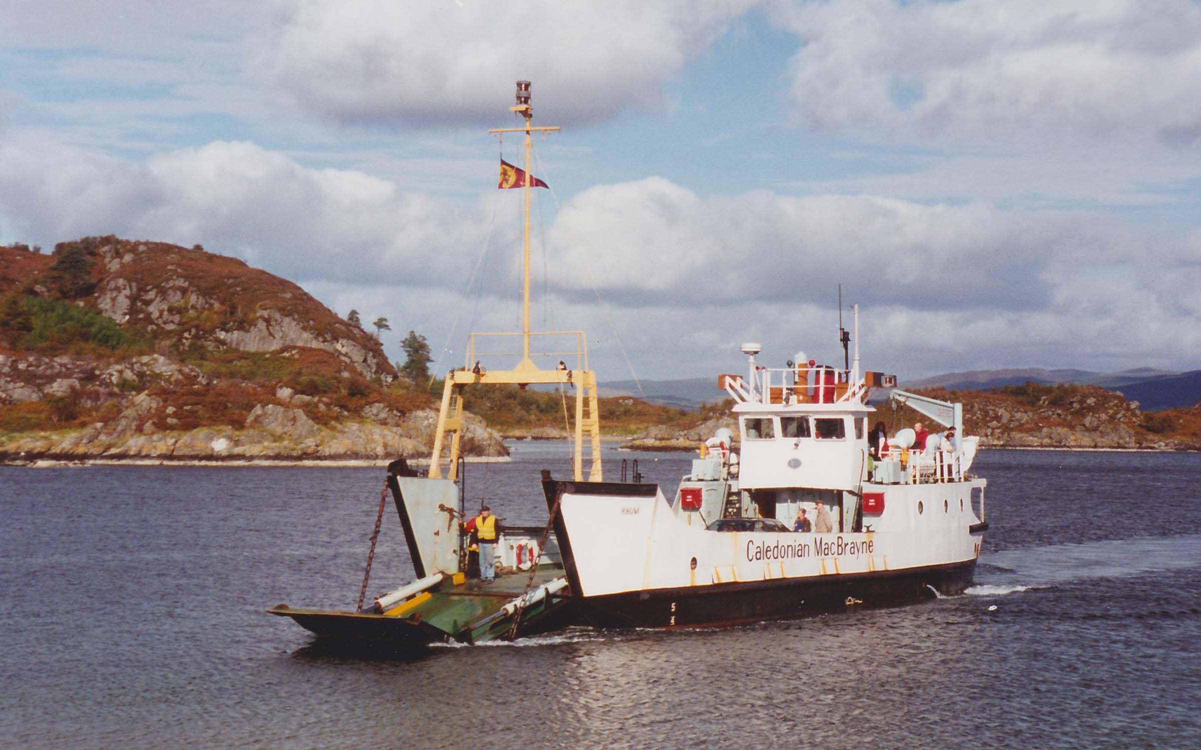 Rhum arriving at Tarbert, Loch Fyne (Ships of CalMac)